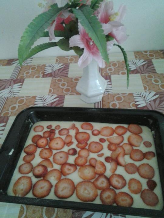 Fotografie receptu: Hrníčková buchta s ovocem
