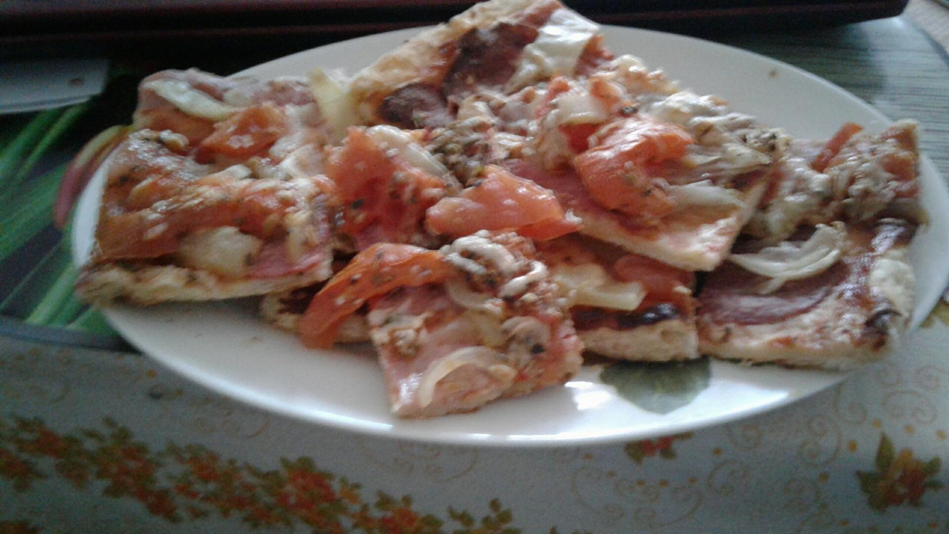 Fotografie receptu: Pizza z listového těsta