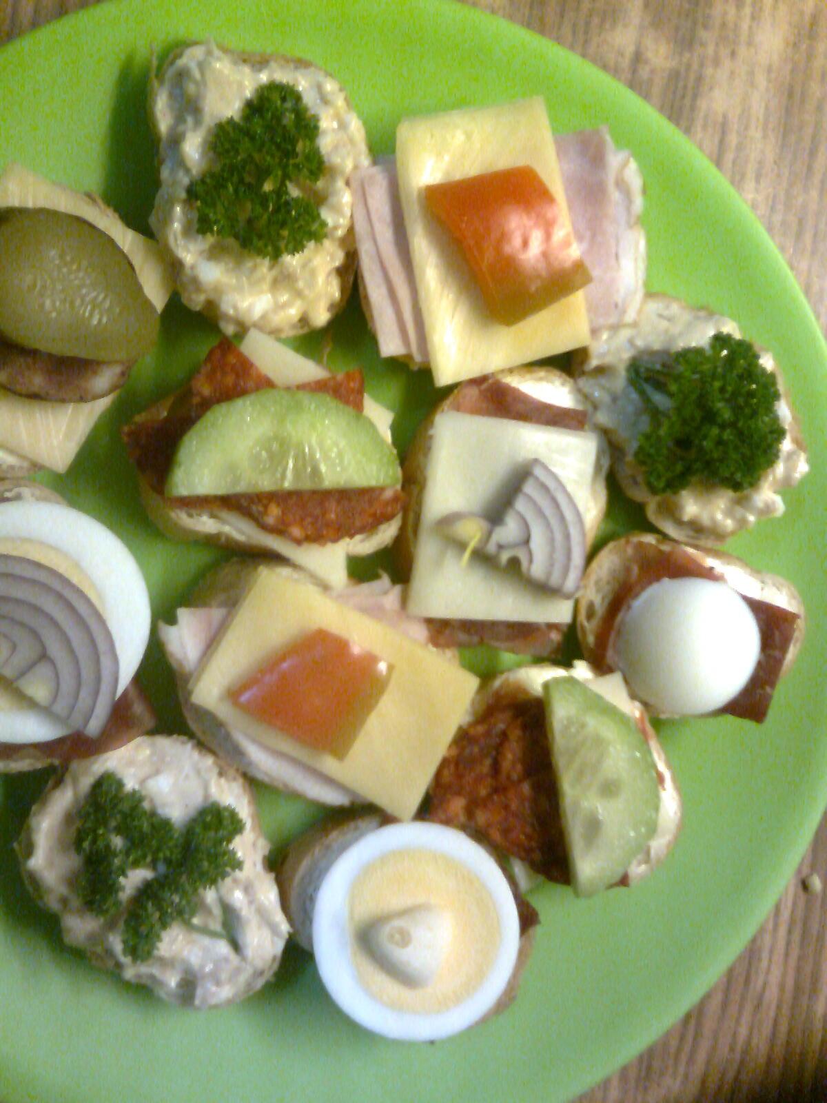Recept Silvestrovské jednohubky - Silvestrovské jednohubky