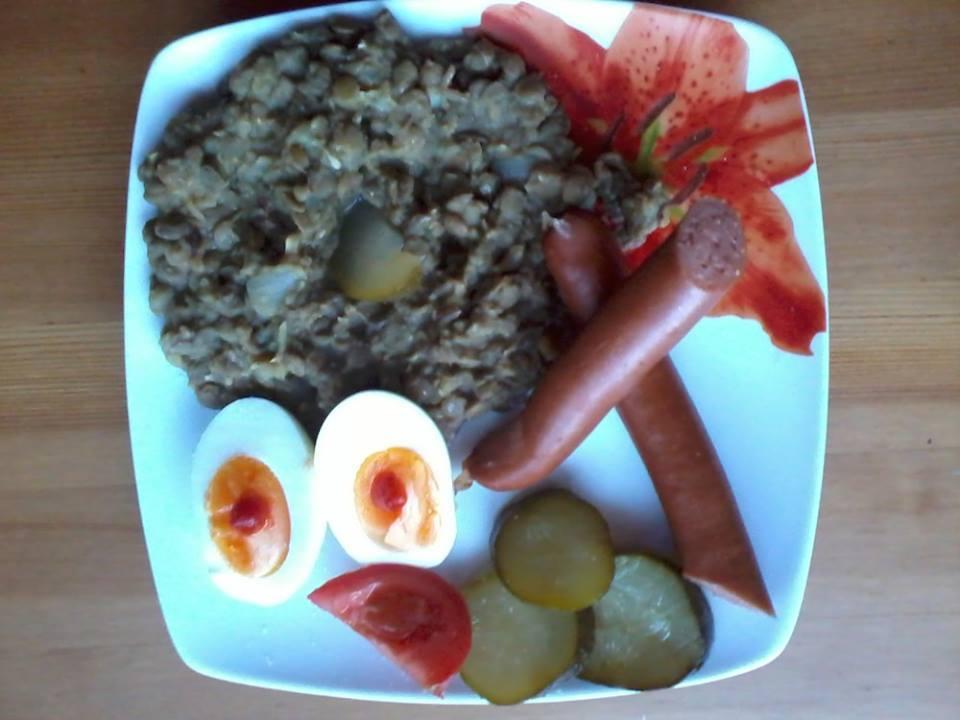 Recept Čočka na kyselo - Dnešní večeře-já si tam ještě přidávám chilli nebo feferonky :)