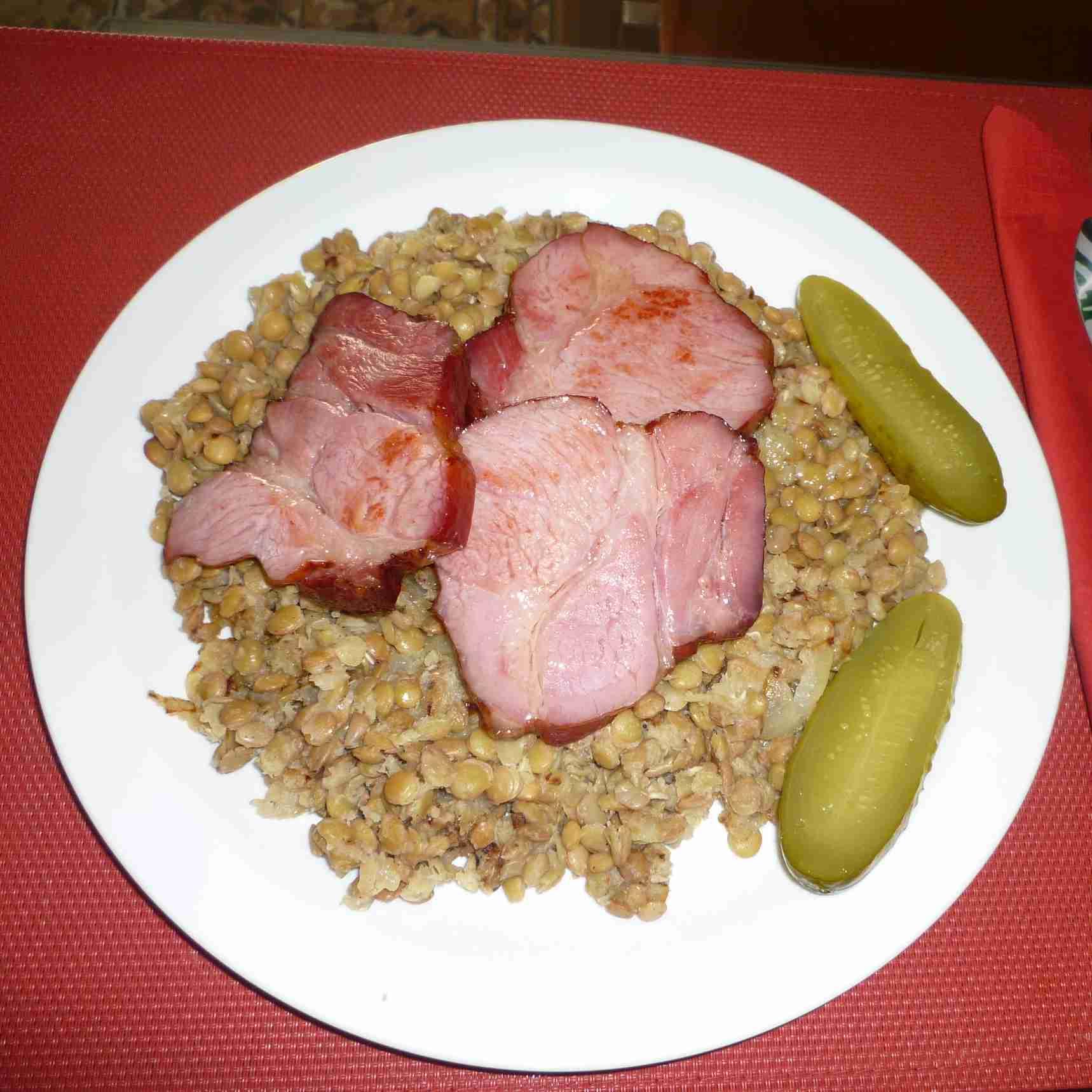 Recept Čočka na kyselo - Čočka na kyselo s uzeným