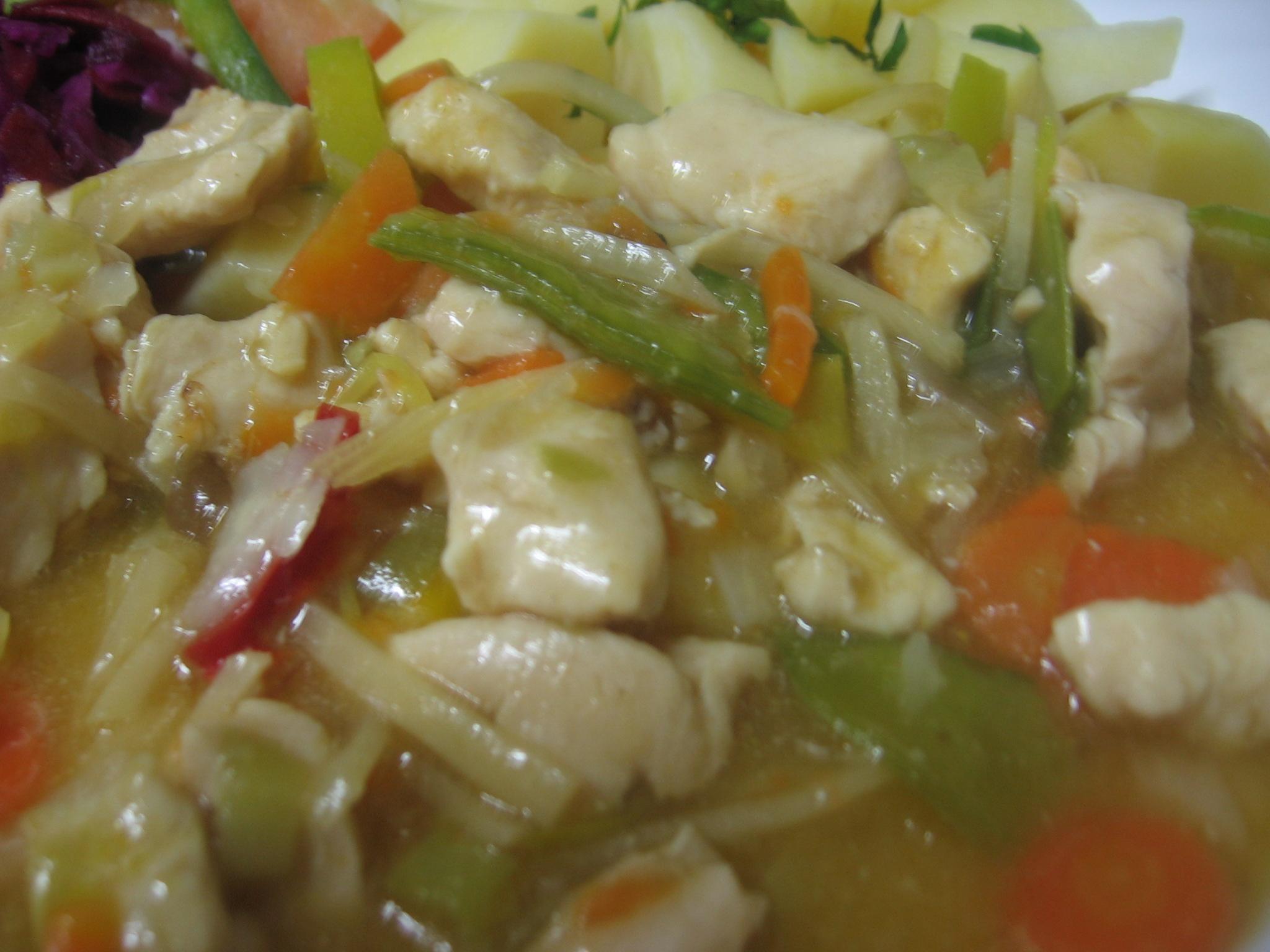Recept Kuřecí plátky se zeleninou a bambusem - Kuřecí plátky se zeleninou a bambusem