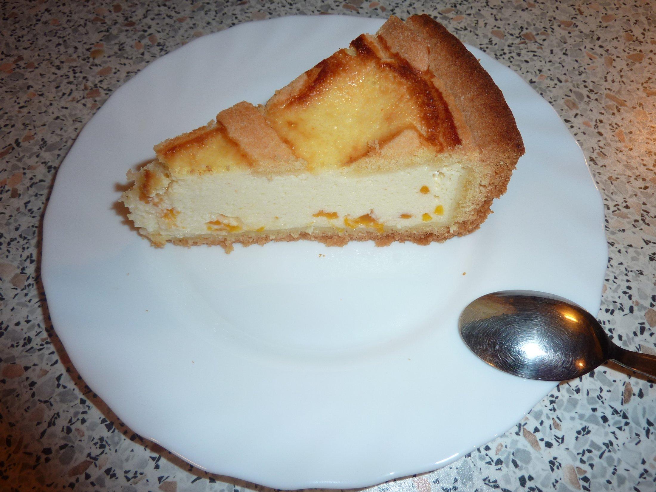 Recept Tvarohový koláč s broskví - Tvarohový koláč s broskví.