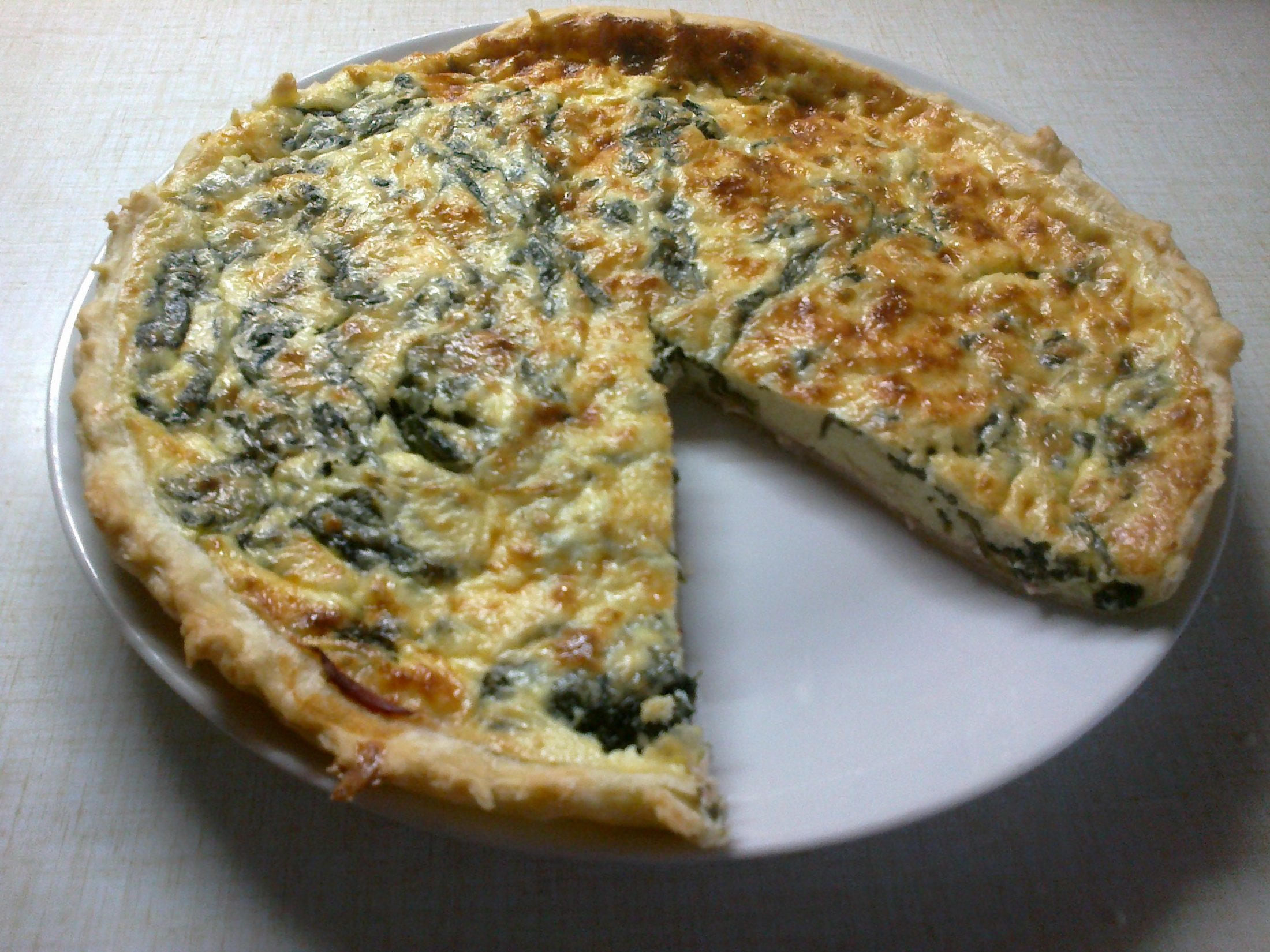 Špenátový quiche se sýrem