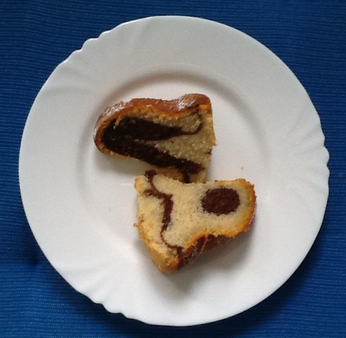 Recept Bábovka - Bábovka v řezu