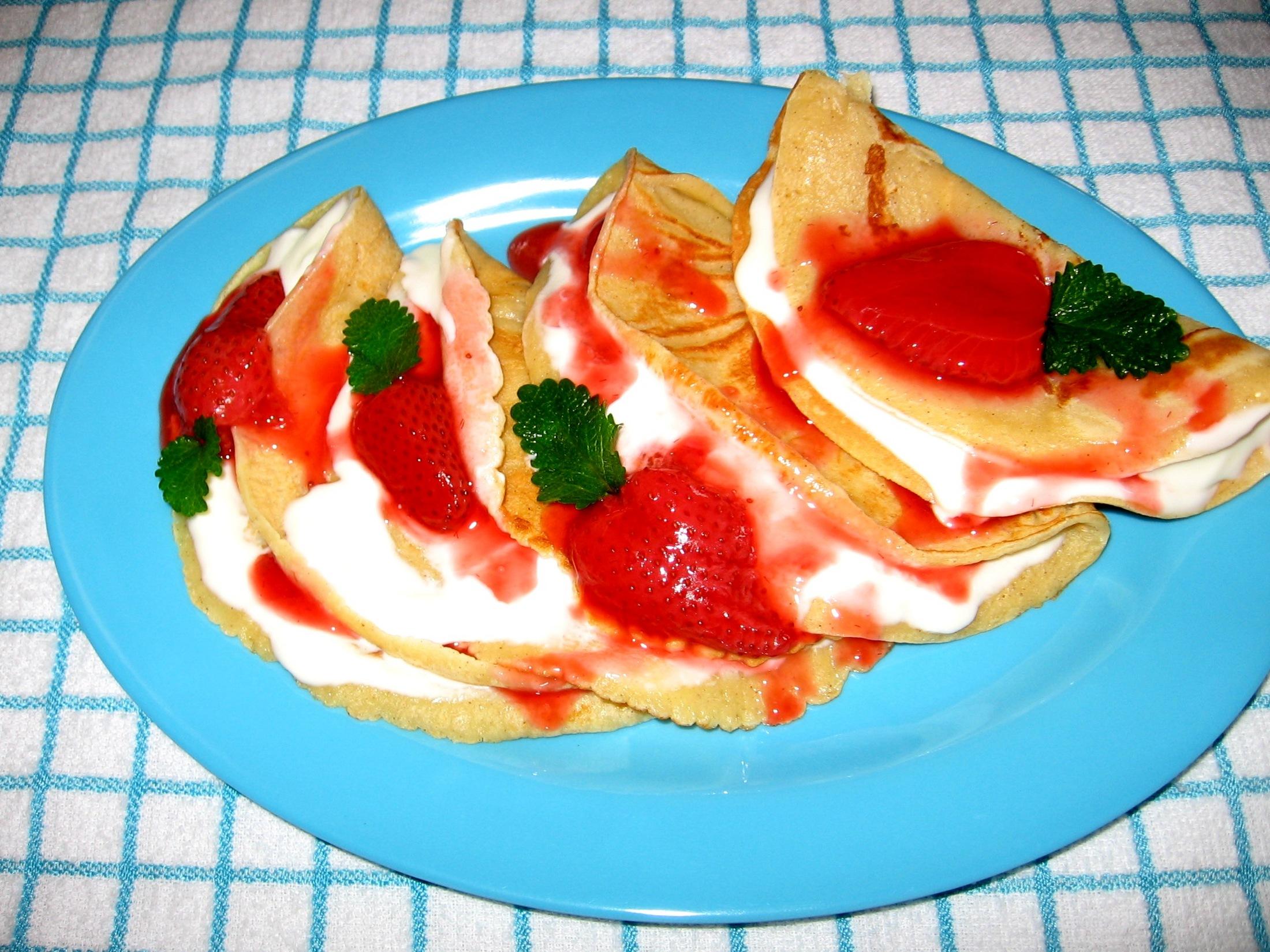 Recept Palačinky - Velice dobré a chutné