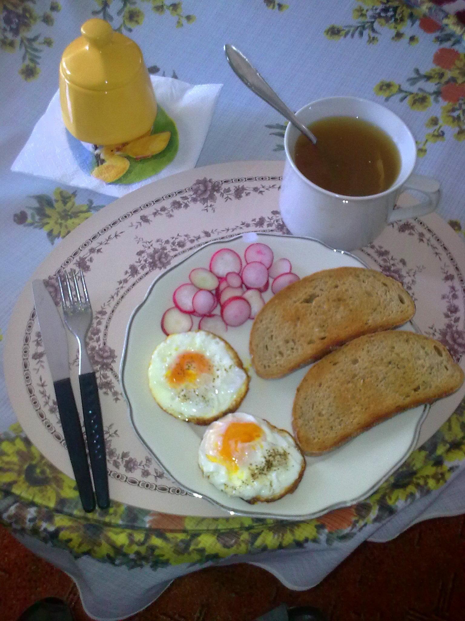 Recept Volské oko - Rychlá, výborná snídaně:) Mohu jen doporučit:)