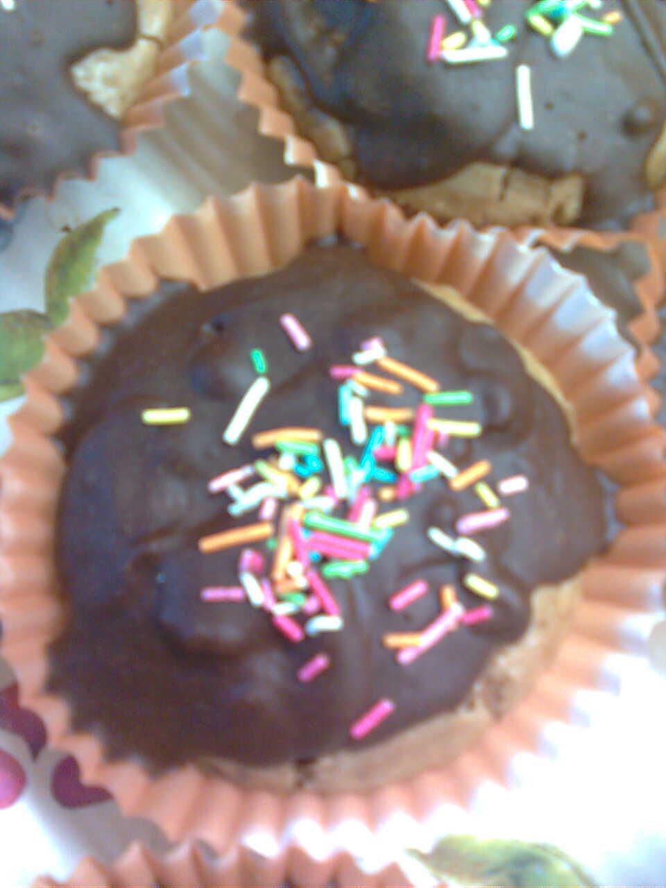 Čokoládové muffiny s kávovou polevou