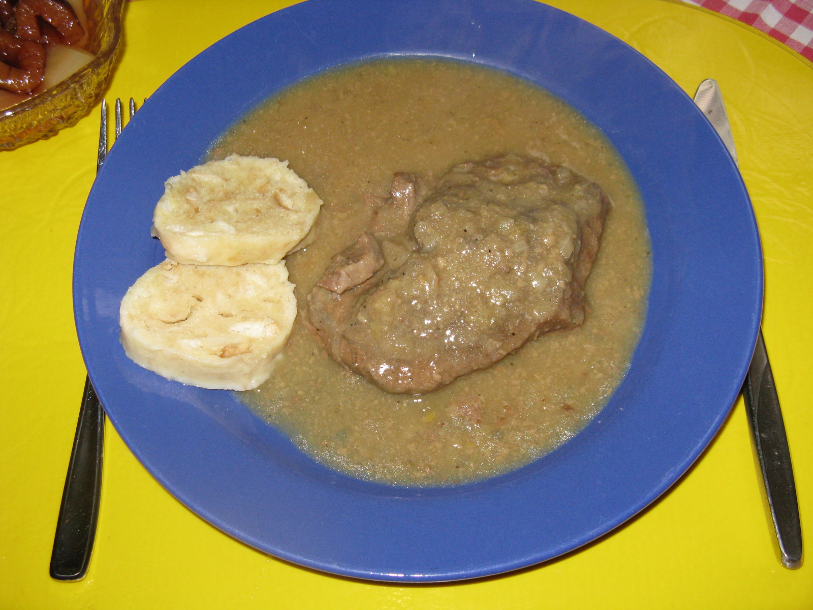 Fotografie receptu: Hovězí roštěná na hořčici