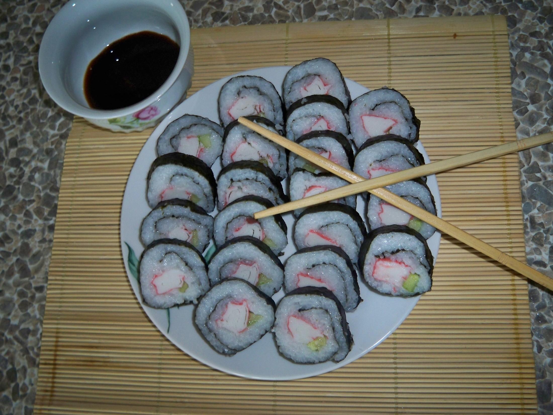 Recept Suši - dětská varianta - krabí tyčinky