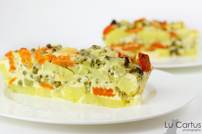Recept Zapečené brambory s brokolicí -