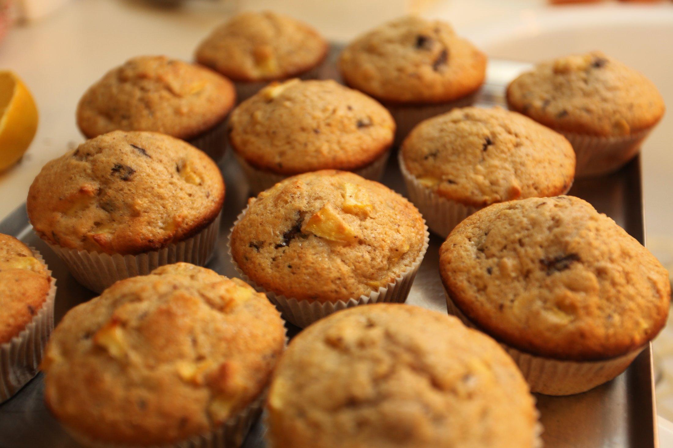 Fotografie receptu: Skořicové muffiny s jablky