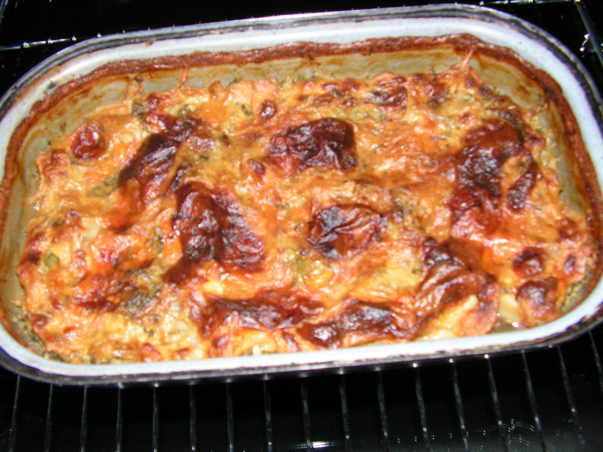 Recept Brokolice s brambory - Zapečená brokolice s brambory.