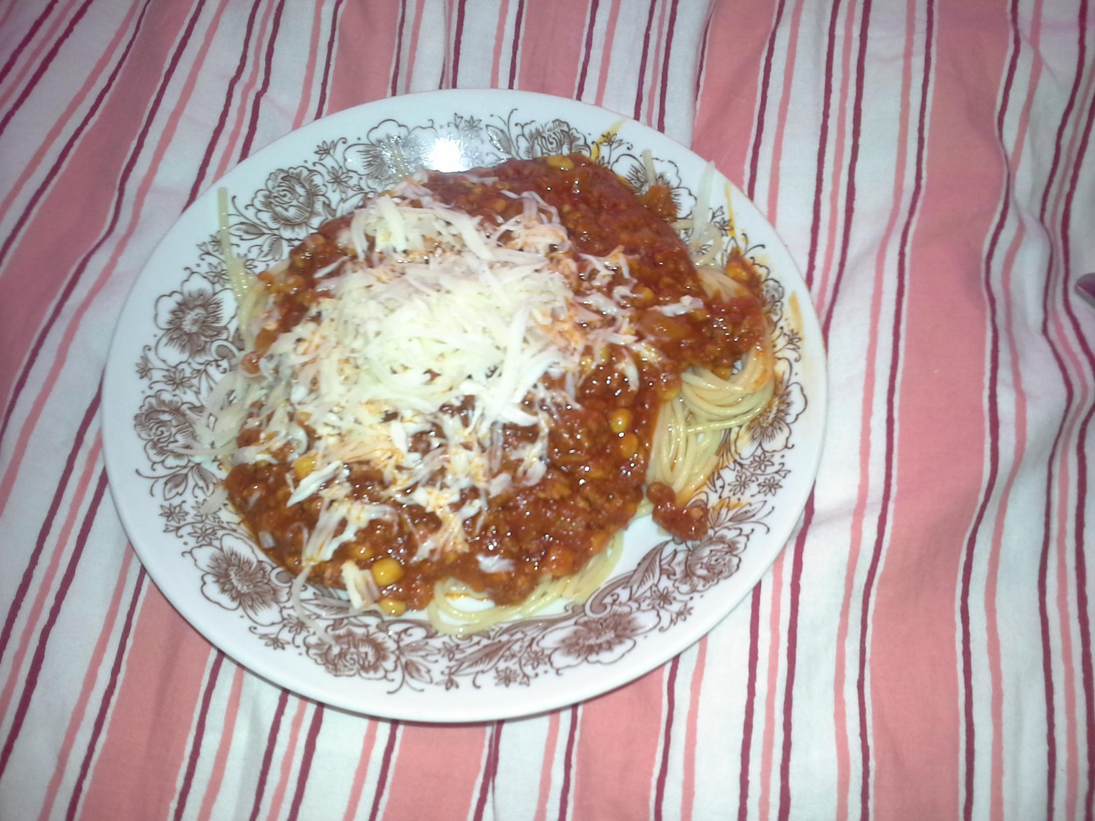 Fotografie receptu: Rychlá boloňská omáčka
