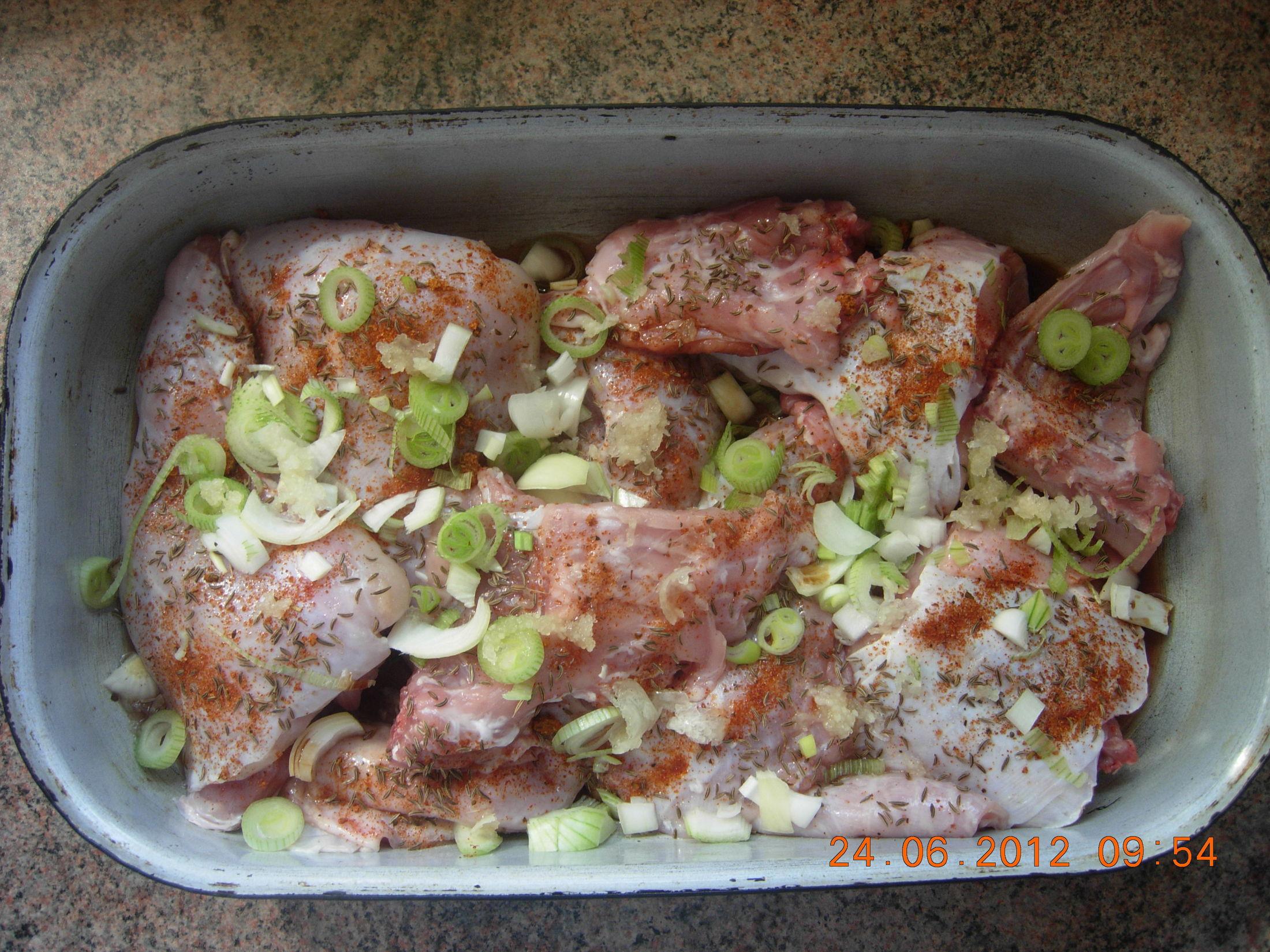 Recept Tradiční pečený králík - Tradiční pečený králík