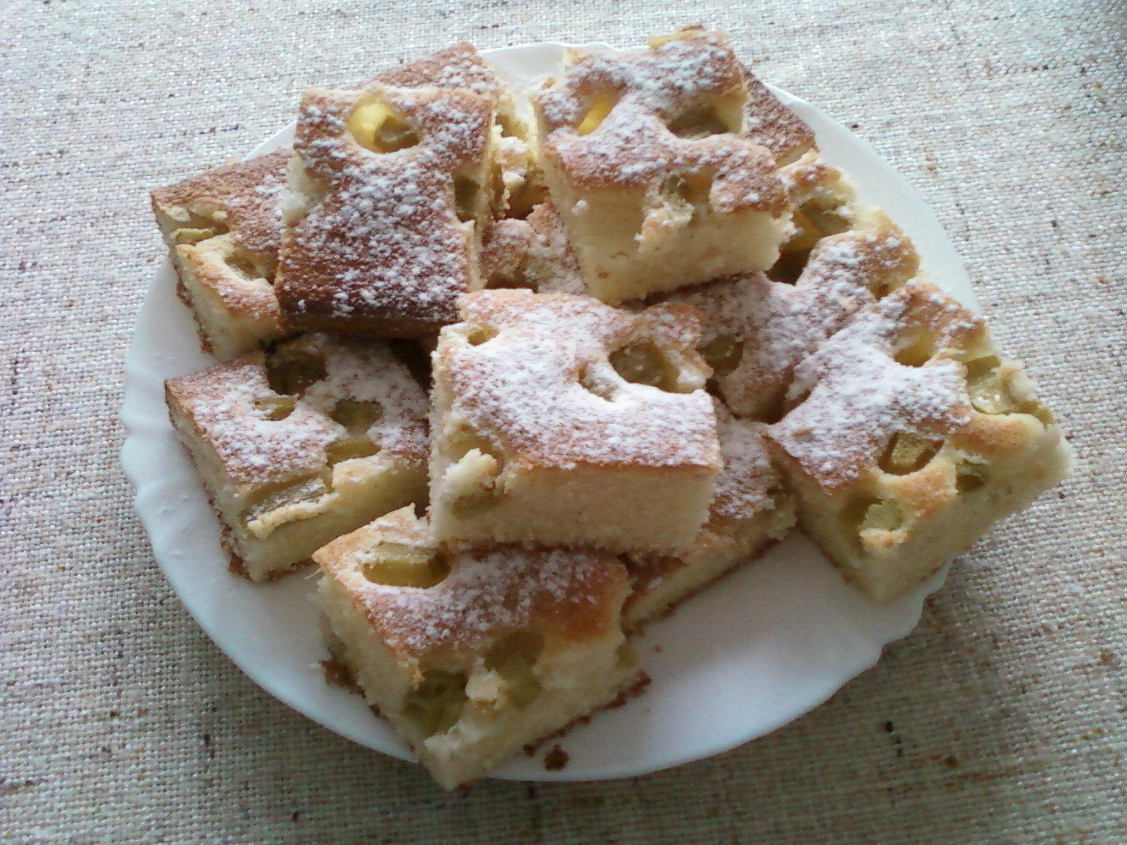 Recept Hrnková bublanina - bublanina s rebarborou