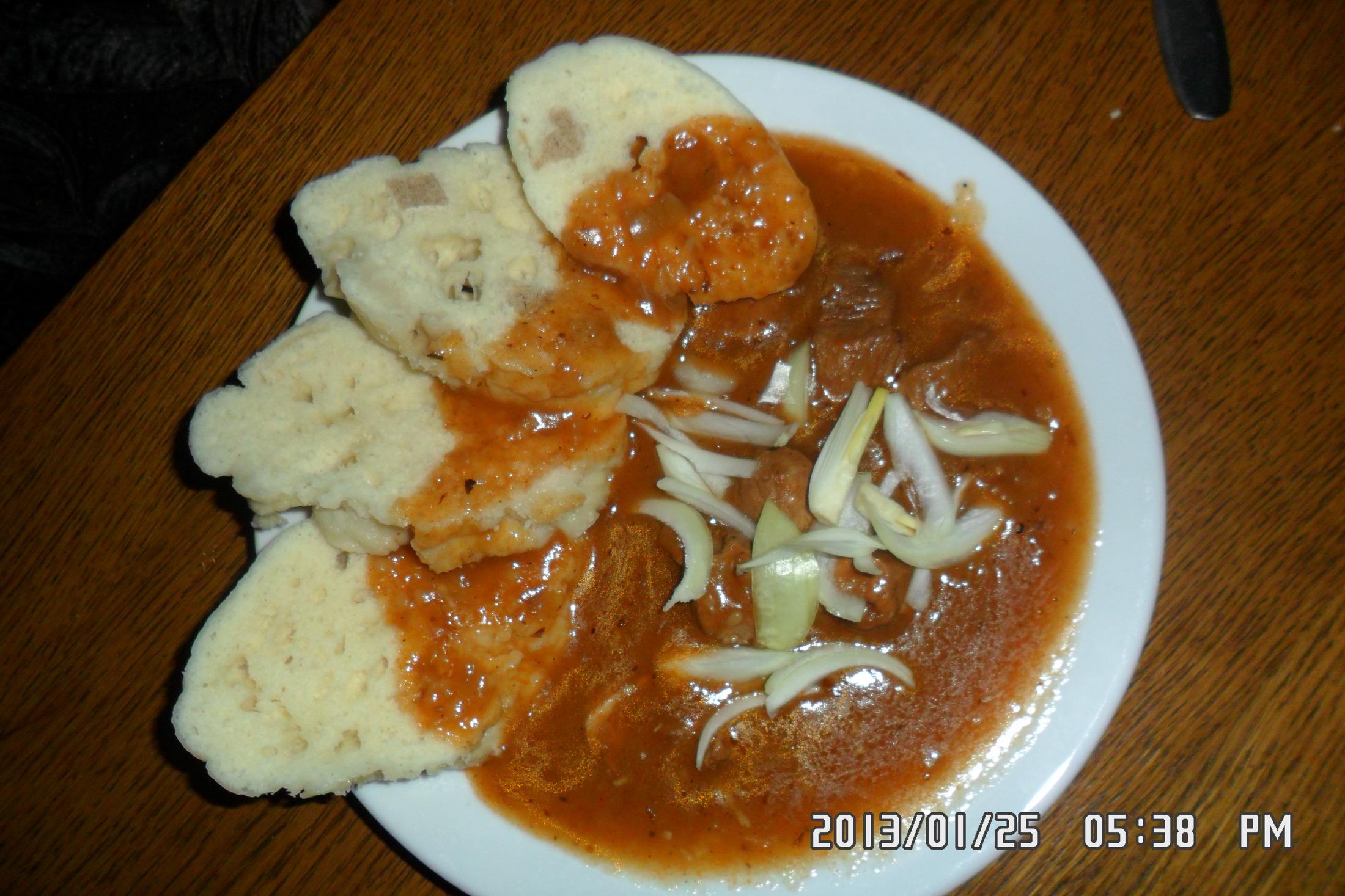 Recept Hospodský vepřový guláš - Takto dopadl můj guláš, znám lepší, ale byl dobrý.