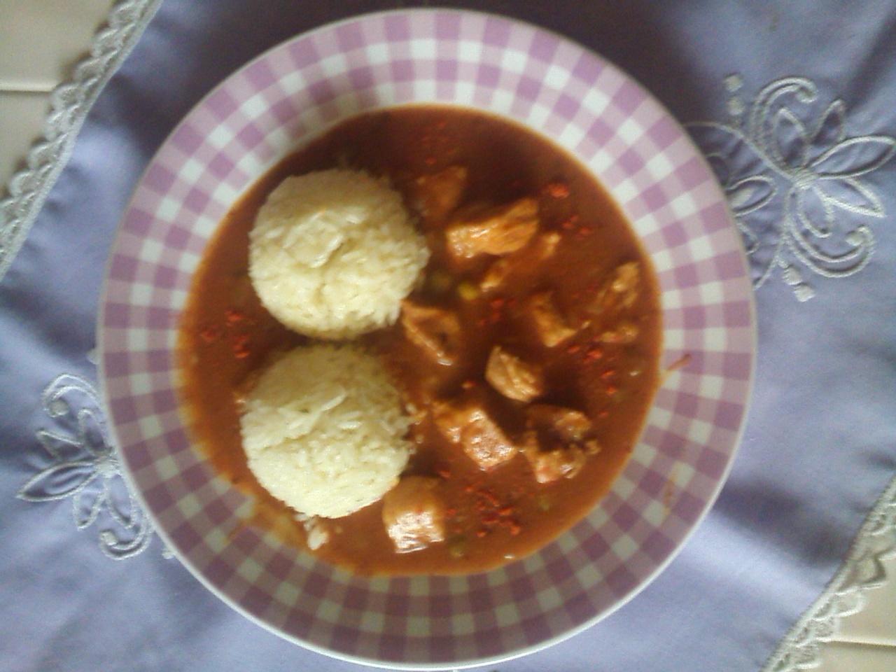 Recept Hospodský vepřový guláš - Mexický vepřový hospodský guláš s rýží