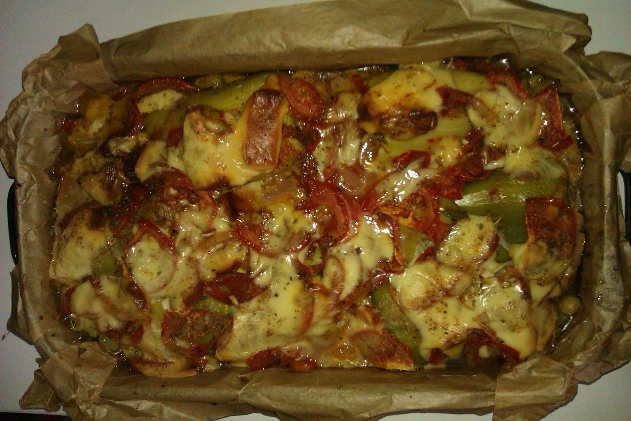 Pečené plněné papriky se sýrem