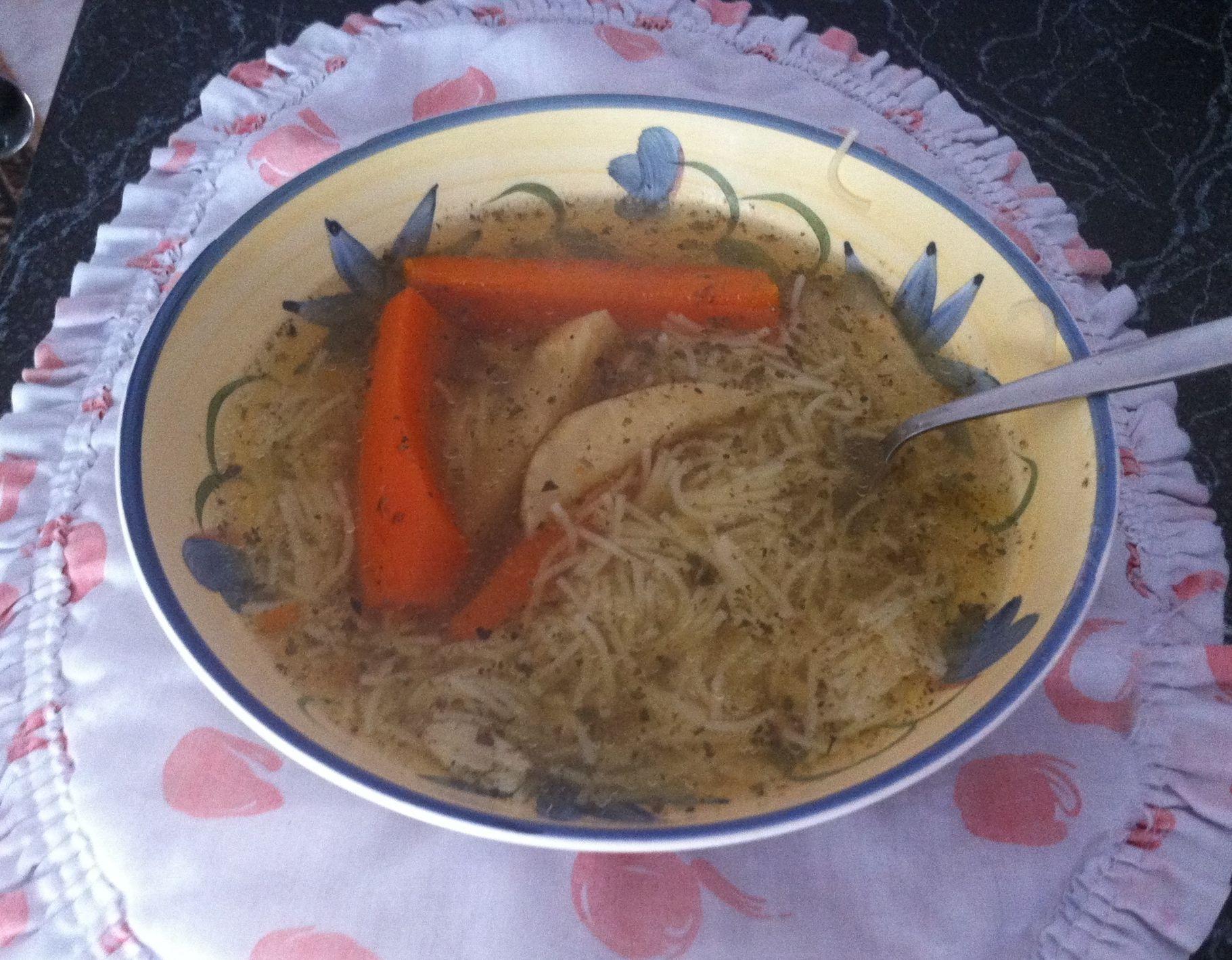 Recept Polévka z kuřecího vývaru se zeleninou - Polévka z kuřecího vývaru se zeleninou