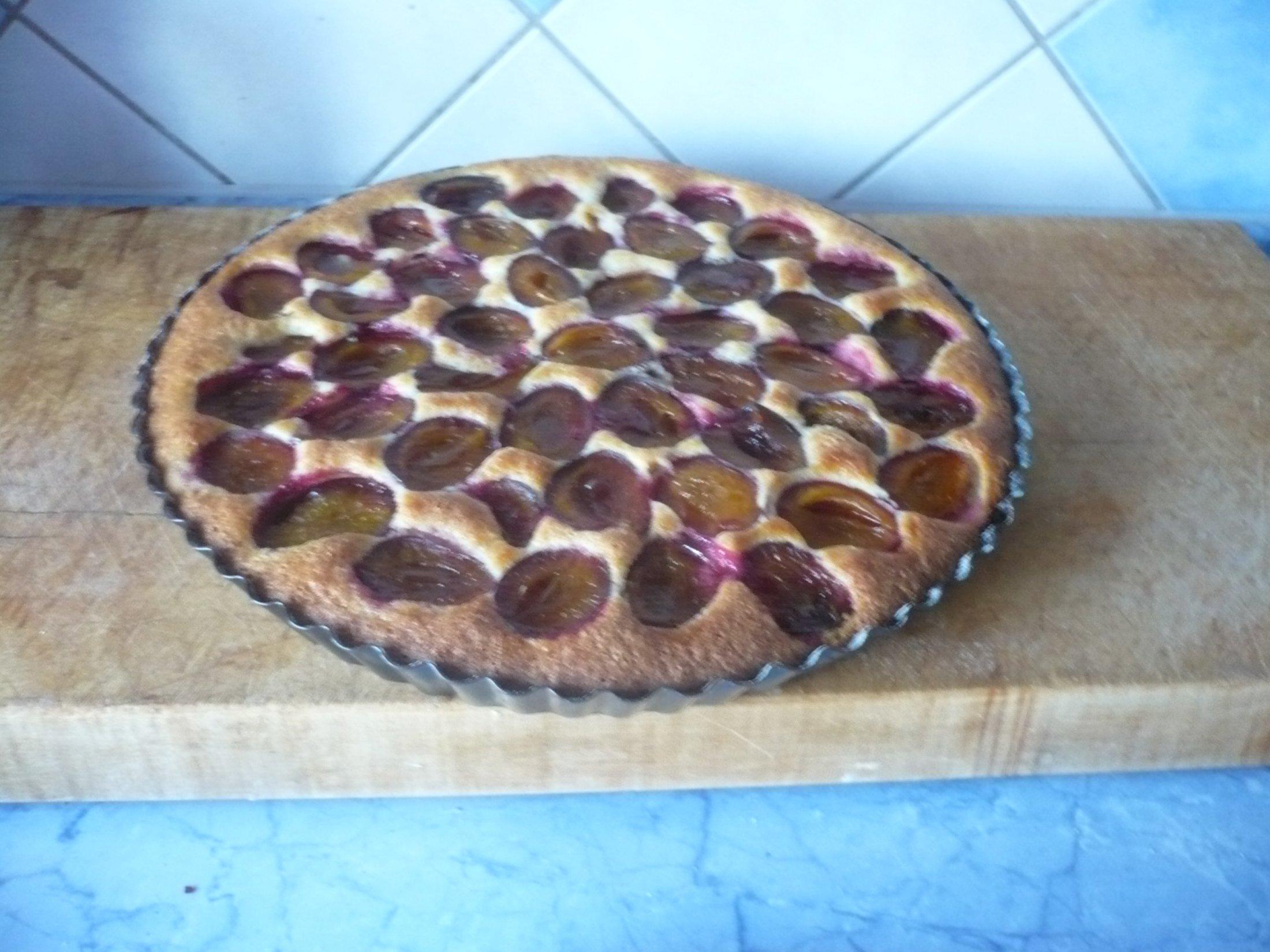 Švestkový koláč bez droždí