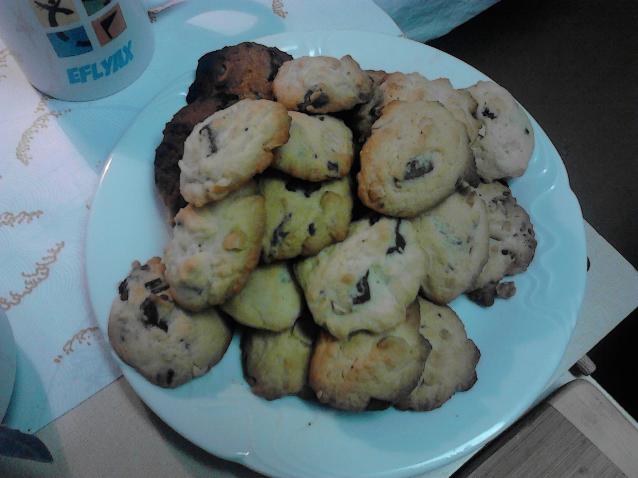 Recept Americké čokoládové cookies - Upečené cookies