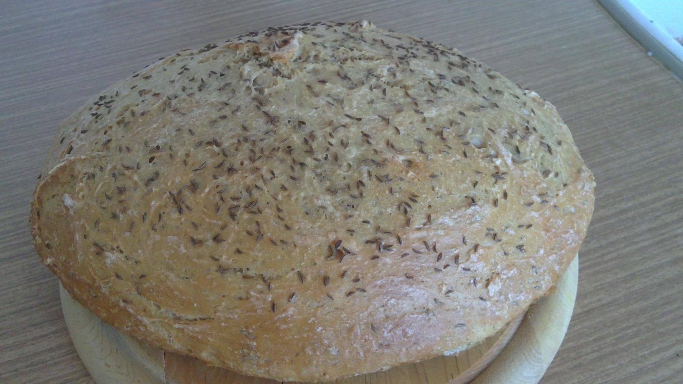 Recept Domácí chleba - Upečený domácí chléb.