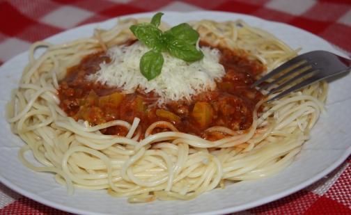Fotografie receptu: Rychlé boloňské špagety