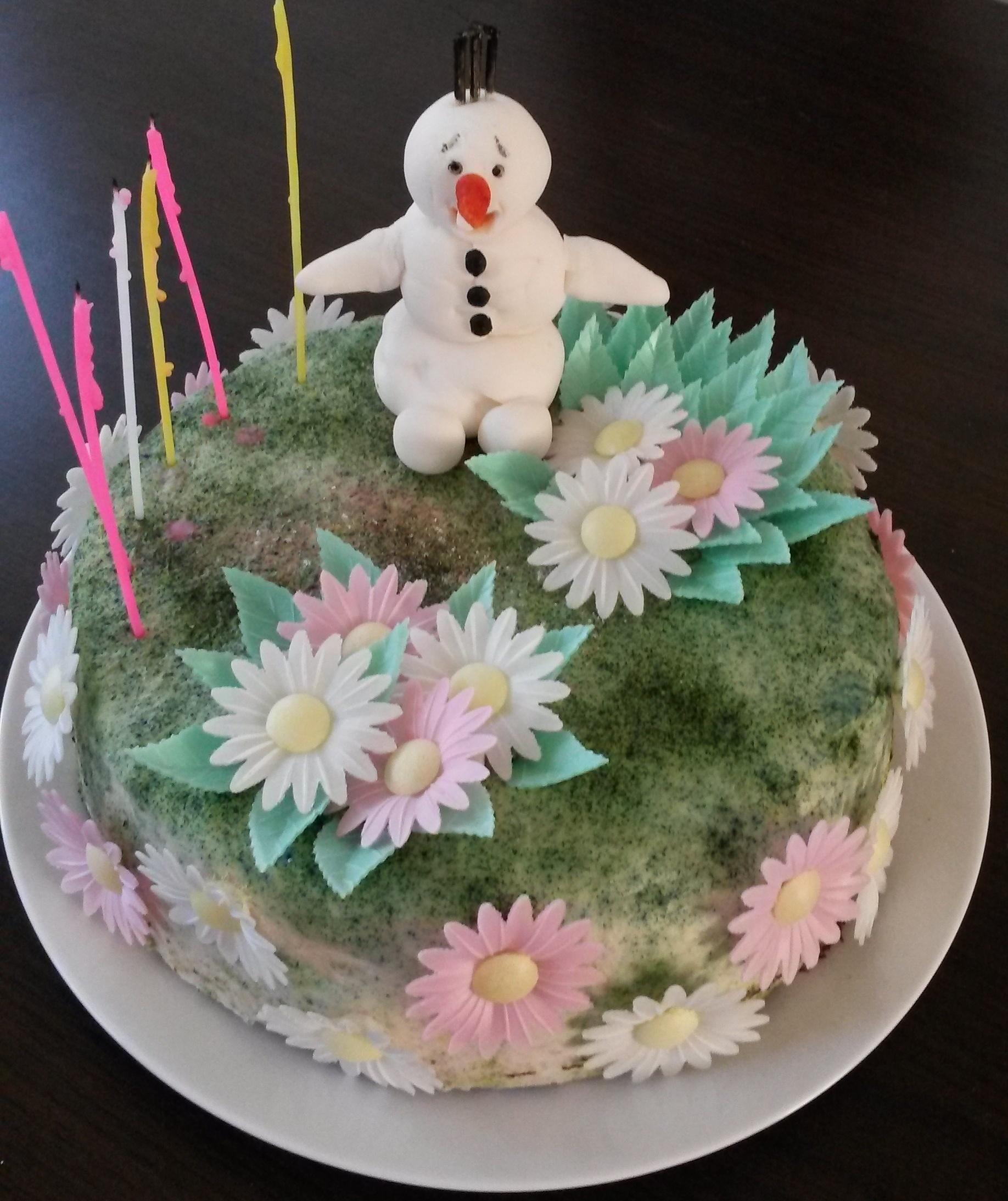Recept Domácí krtkův dort - Dcera si krtkův dort ozdobila po svém