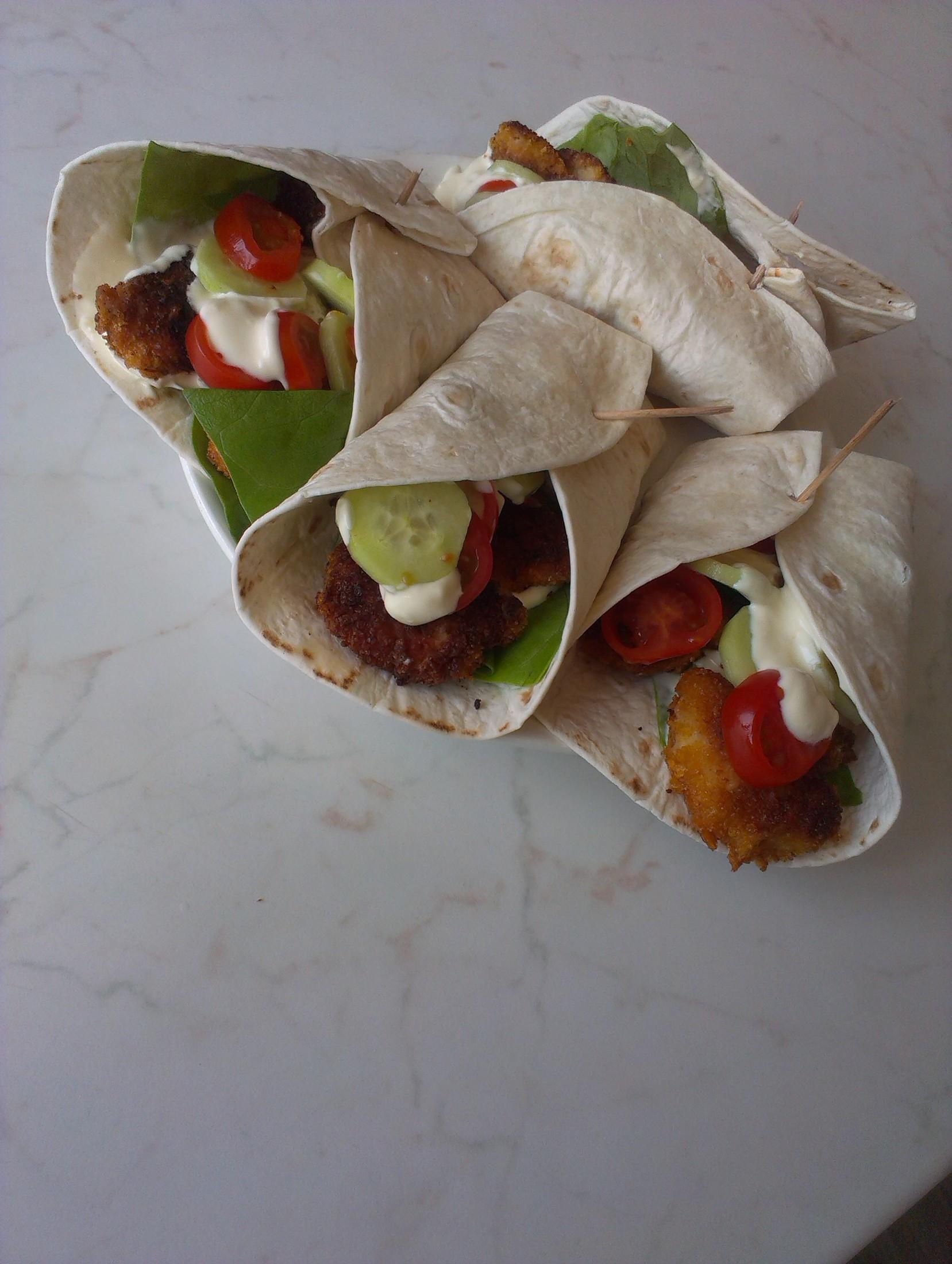 Recept Plněná tortilla - lepší než z KFC :)
