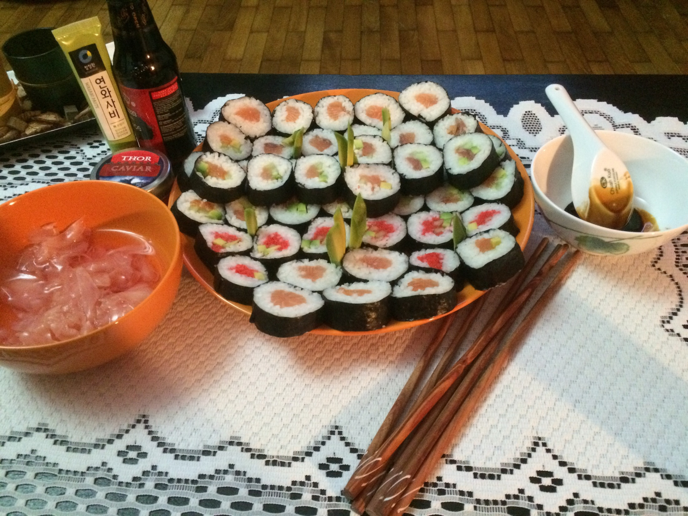 Recept Domácí sushi - sushi 2