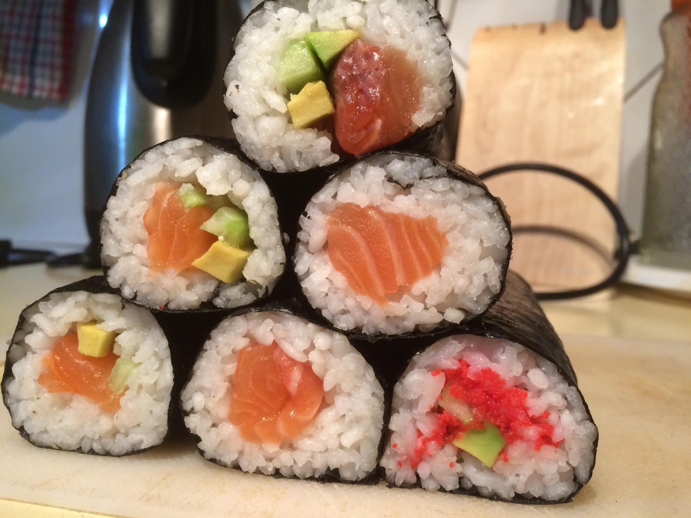 Recept Domácí sushi - Sushi 1