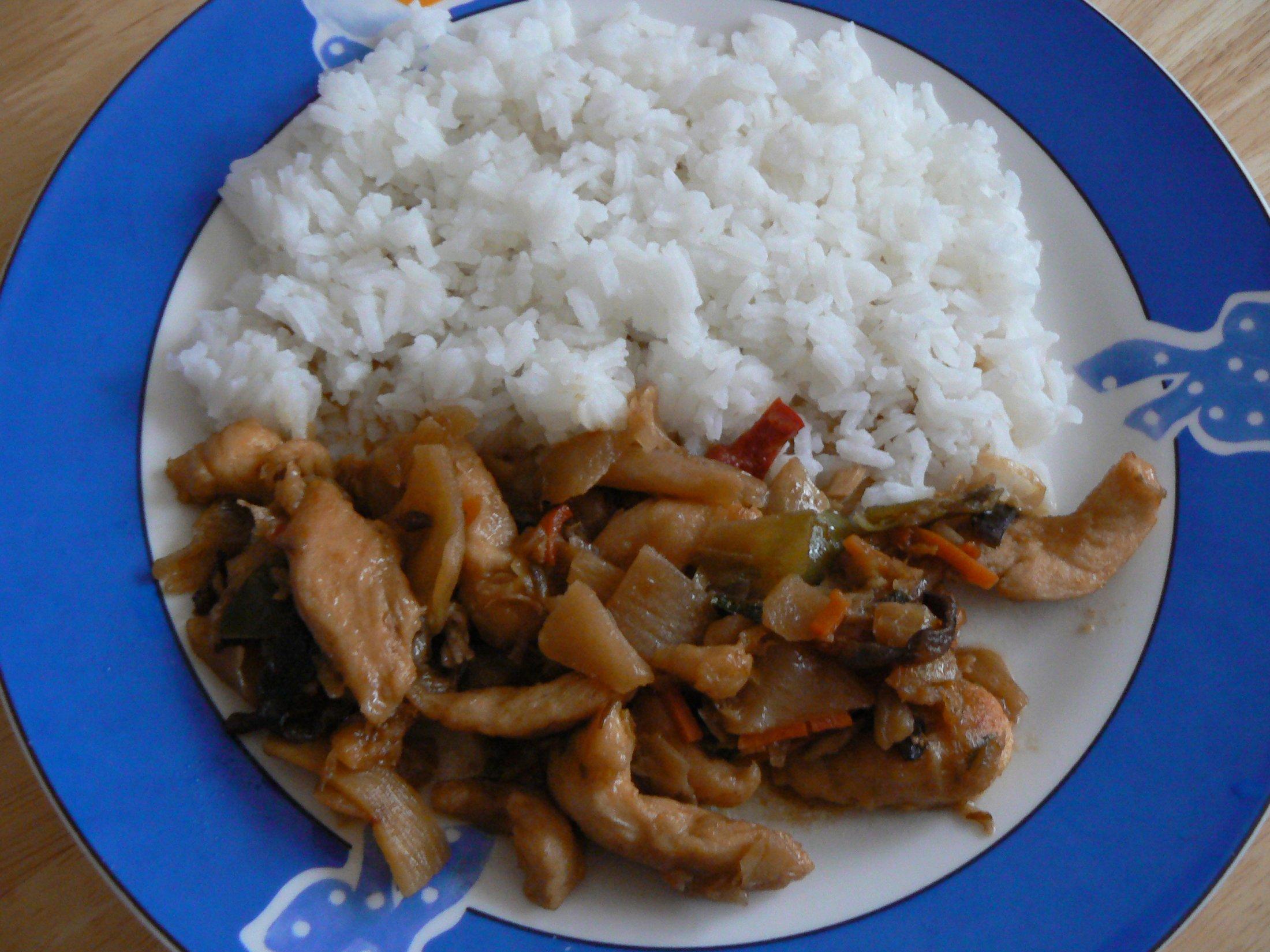 Recept Rychlá čína s kuřecím masem - Rychlá čína s kuřecím masem.
