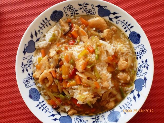 Fotografie receptu: Rychlá čína s kuřecím masem
