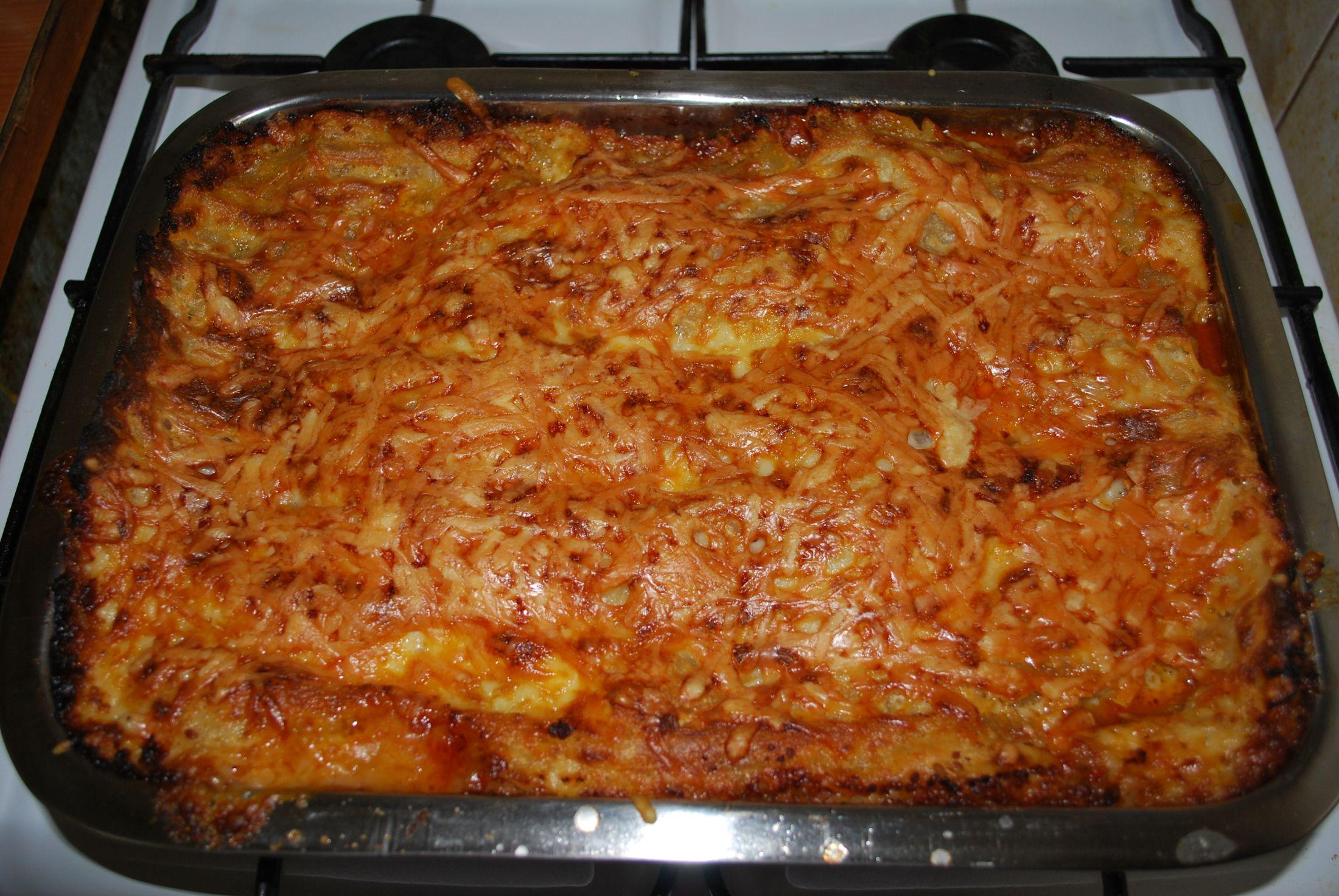 Recept Lasagne s boloňskou omáčkou - Lasagne s boloňskou omáčkou