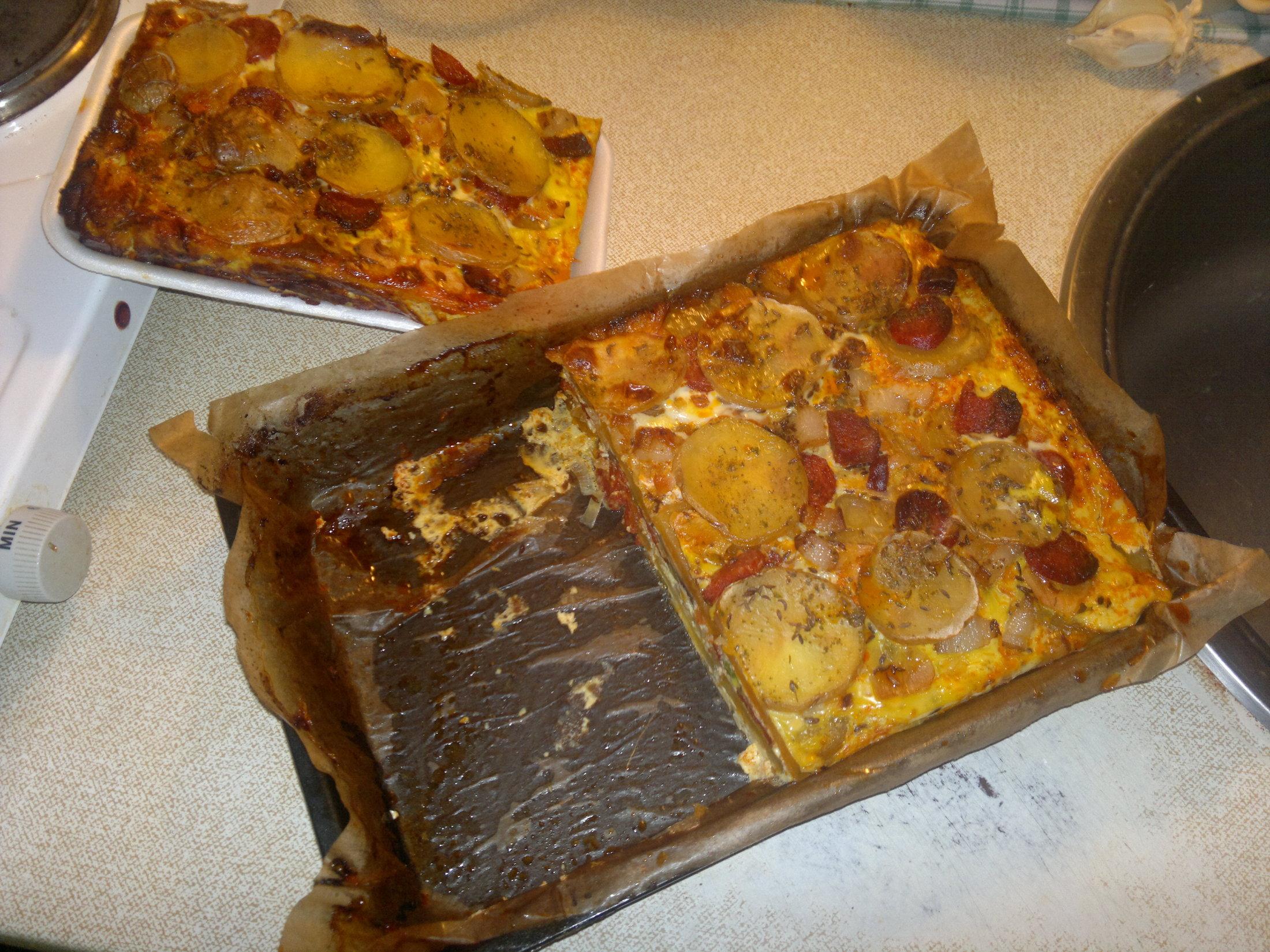 Fotografie receptu: Zapečené brambory se salámem