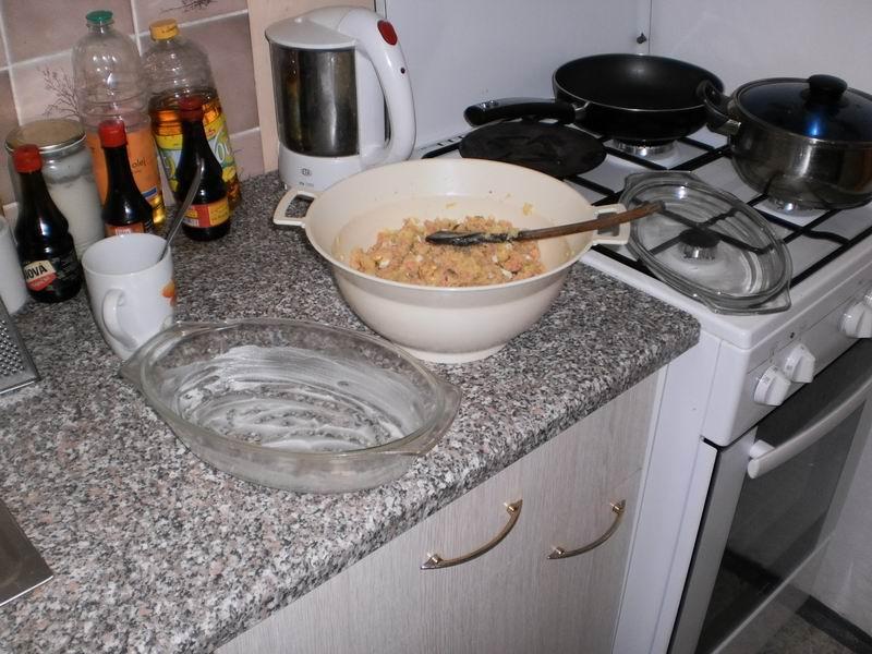 Recept Zapečené brambory se salámem -