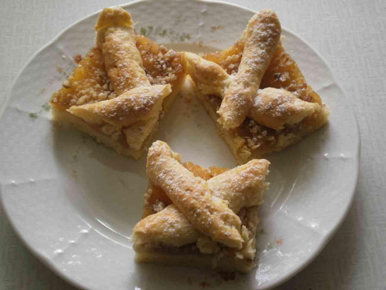 Mřížkový koláč jablkový