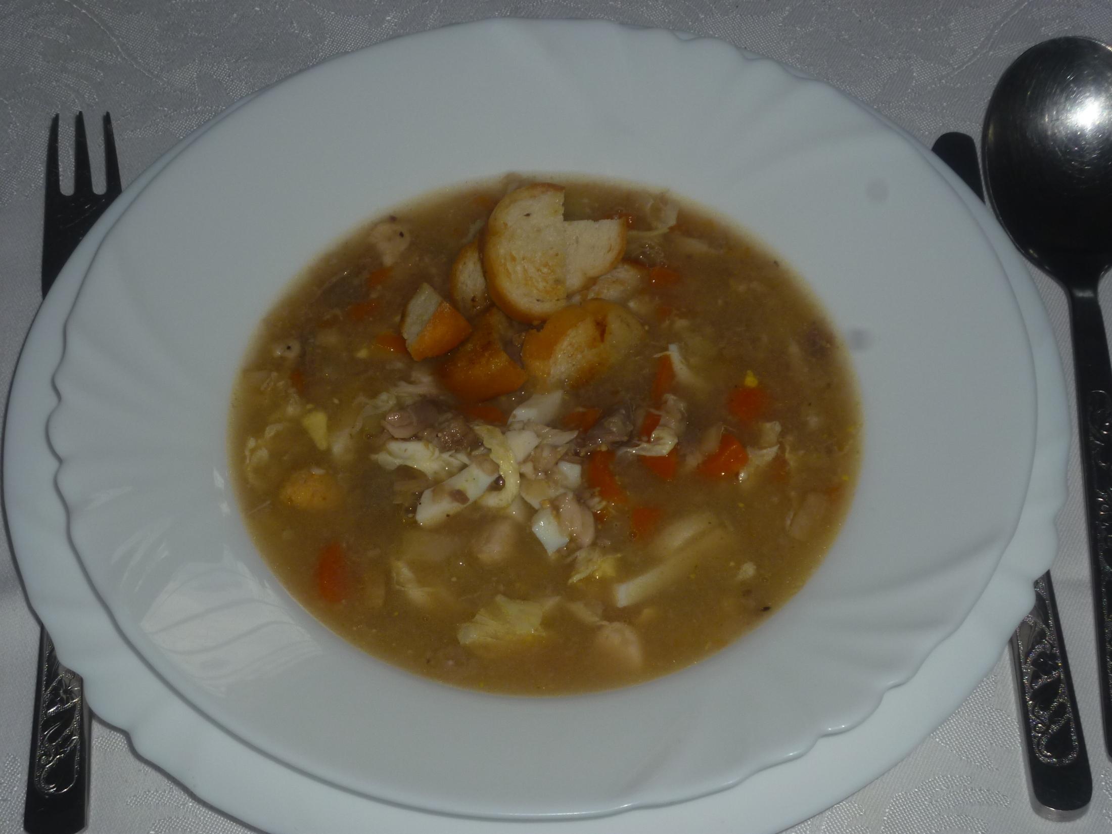 Rybí polévka z fořtovny