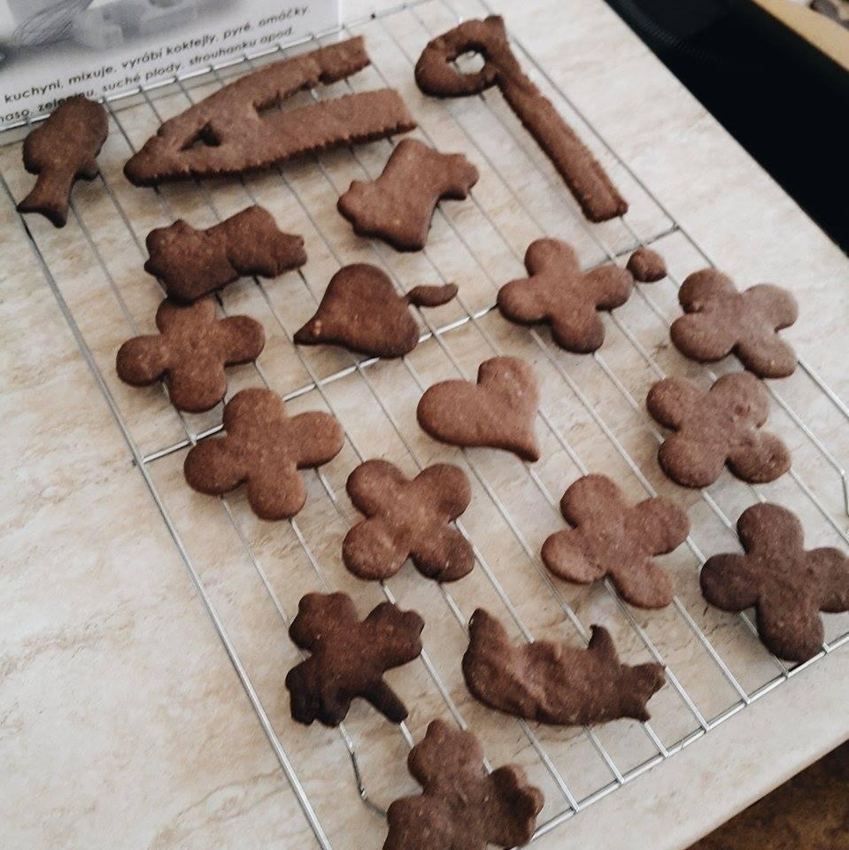 Recept Skořicové sušenky pro děti - do sušenek jsme přidali na školní oslavu i kakao, byly mnam.