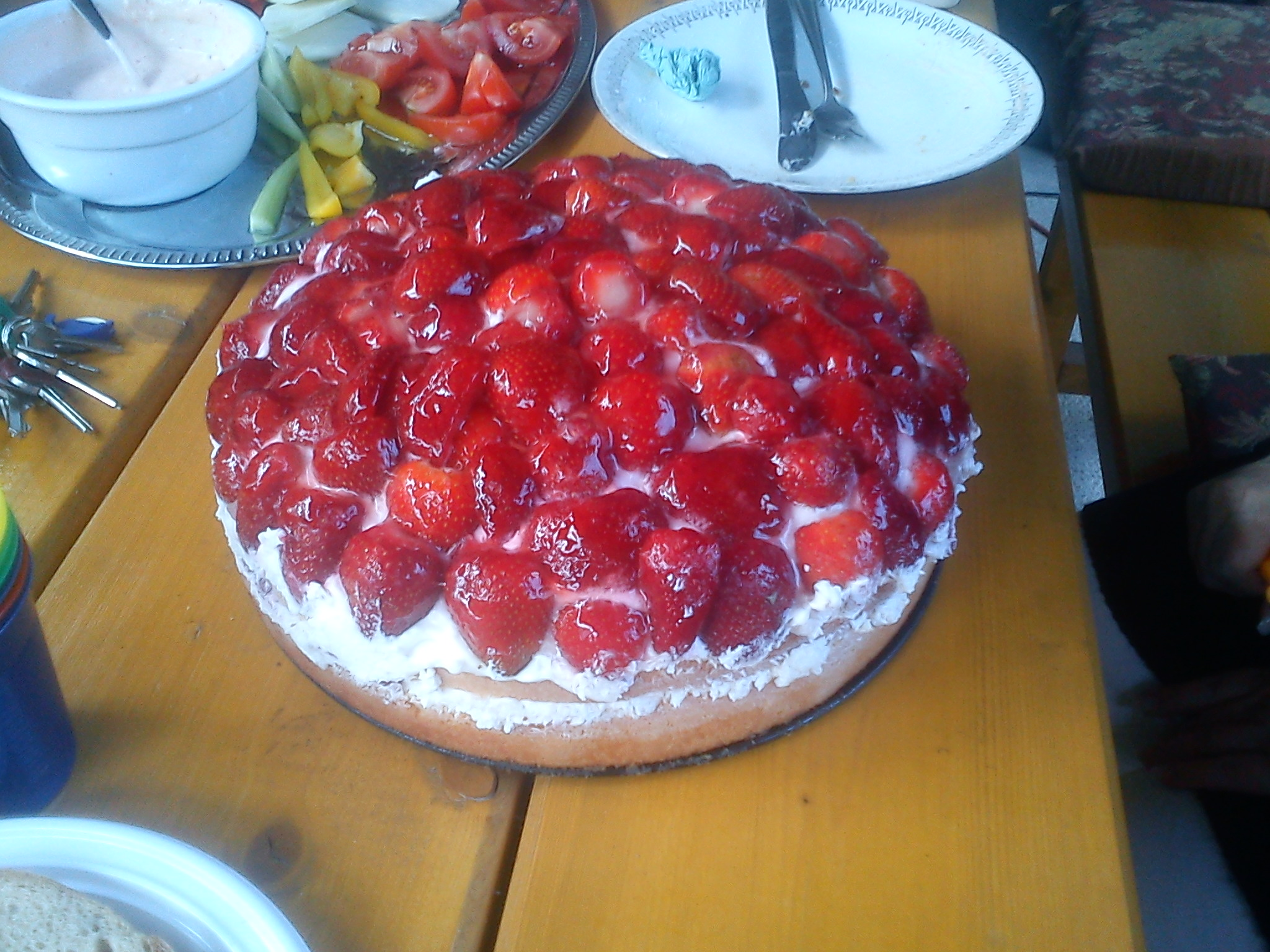 Fotografie receptu: Tvarohovo-jahodový dort