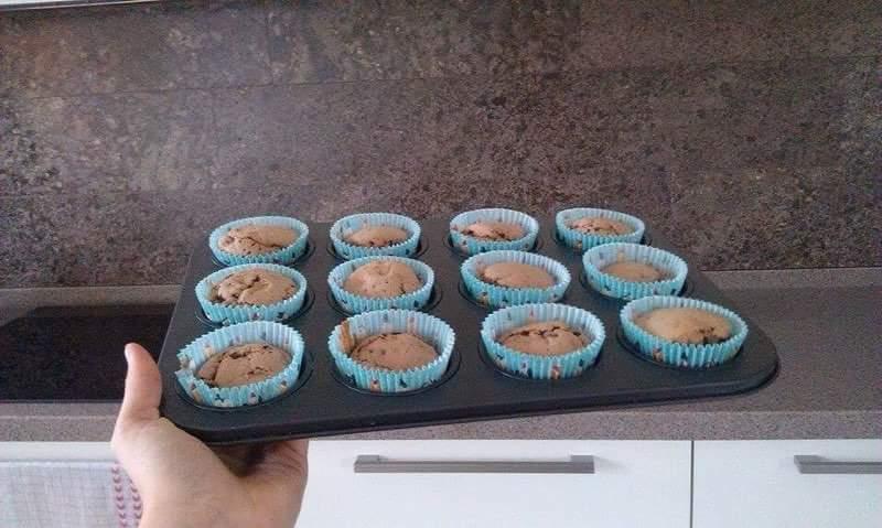 Recept Domácí čokoládové muffiny - Uzasneee!!