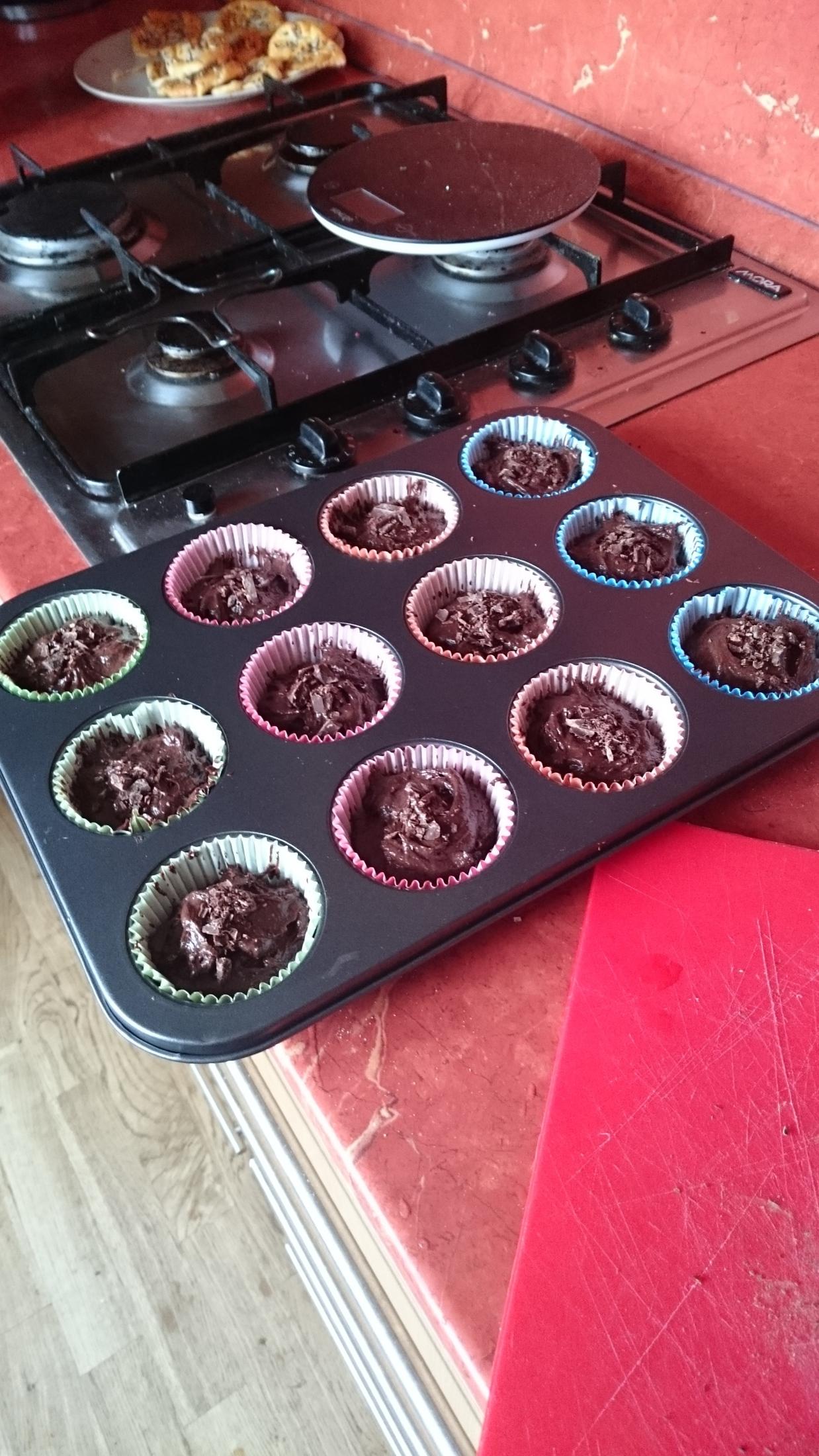 Recept Domácí čokoládové muffiny - Muffiny