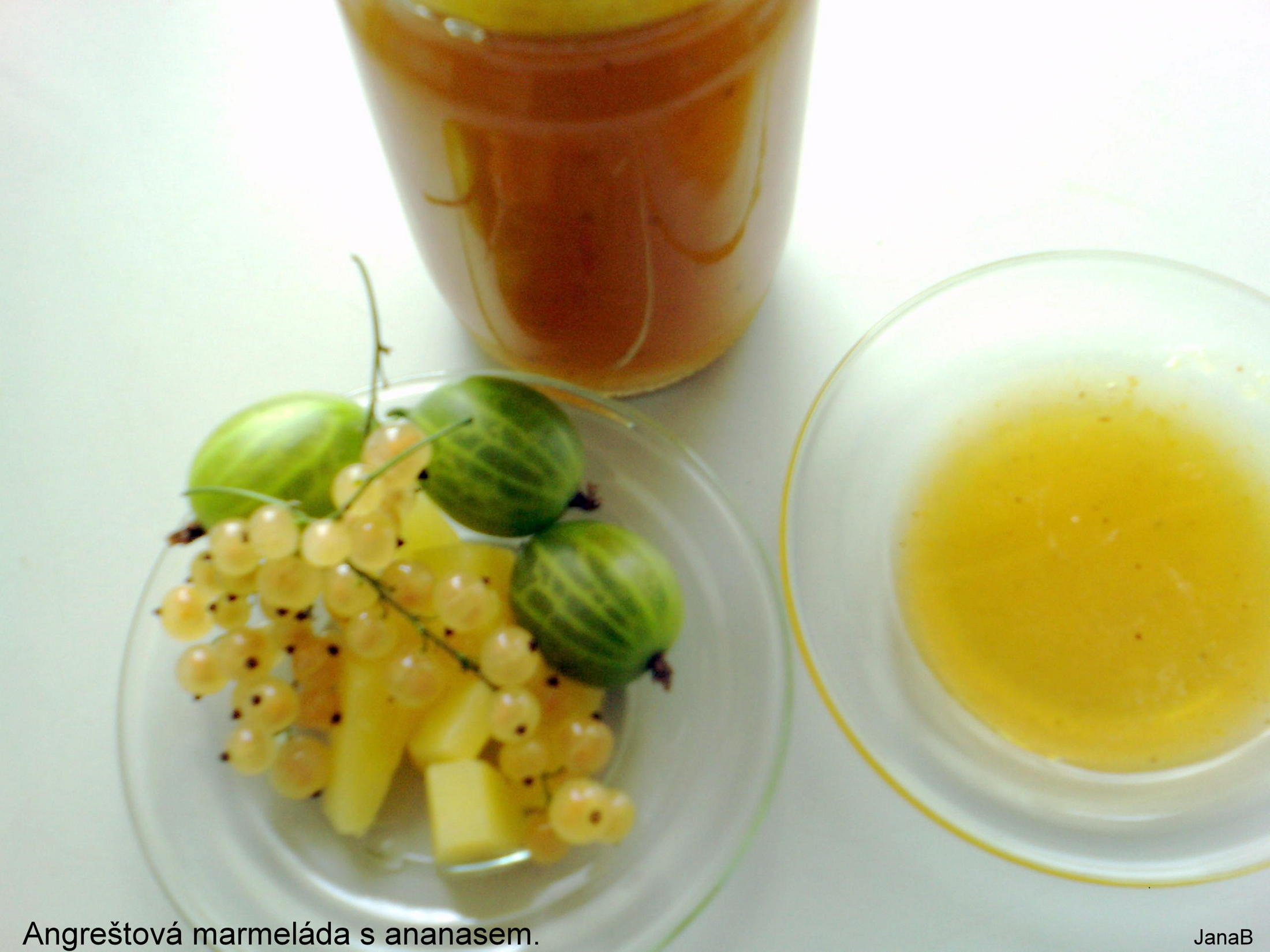 Angreštová marmeláda s ananasem