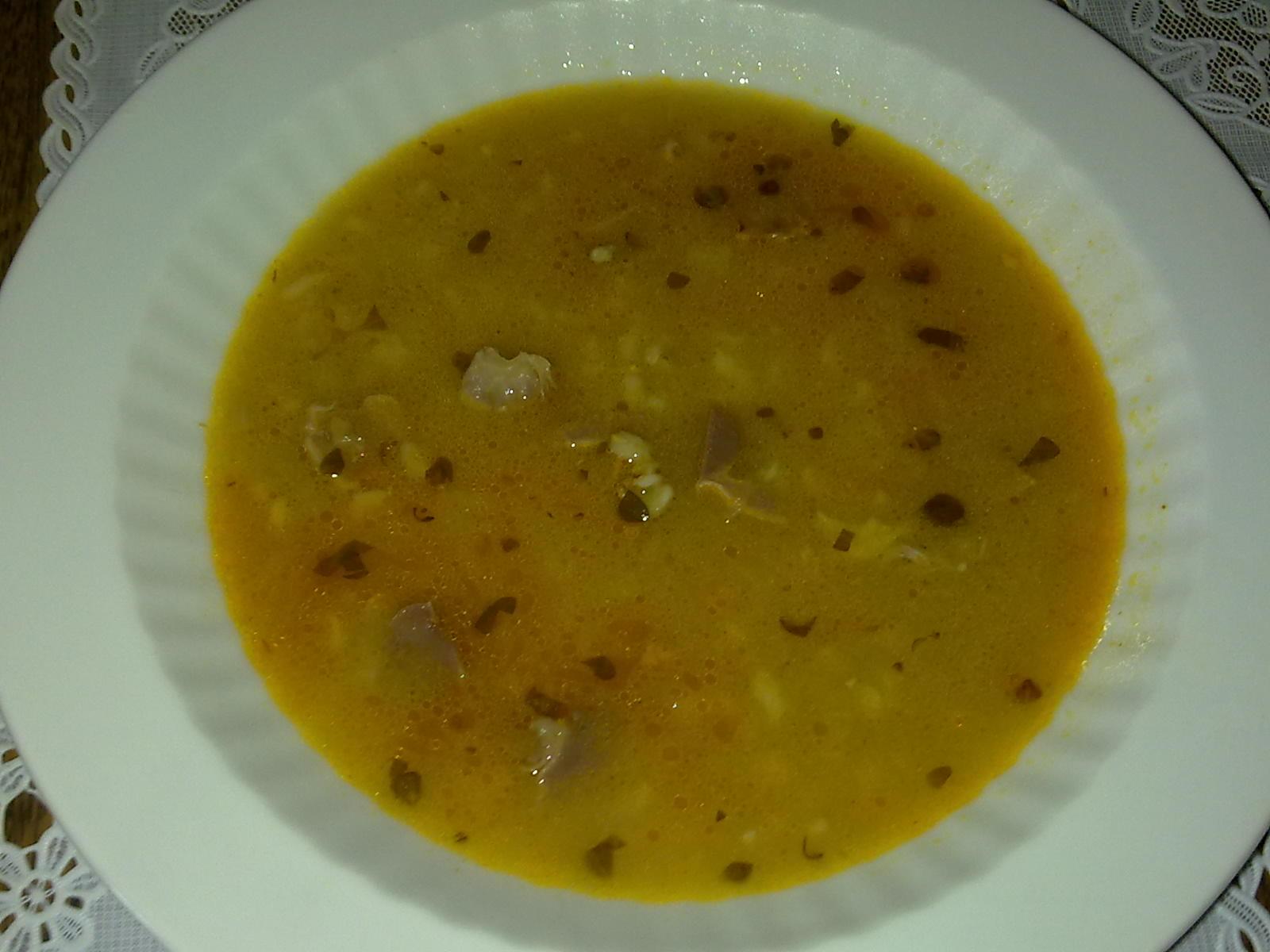 Recept Dršťková polévka z kuřecího masa - Polévku jsme zkusila z kuřecích žaludků.