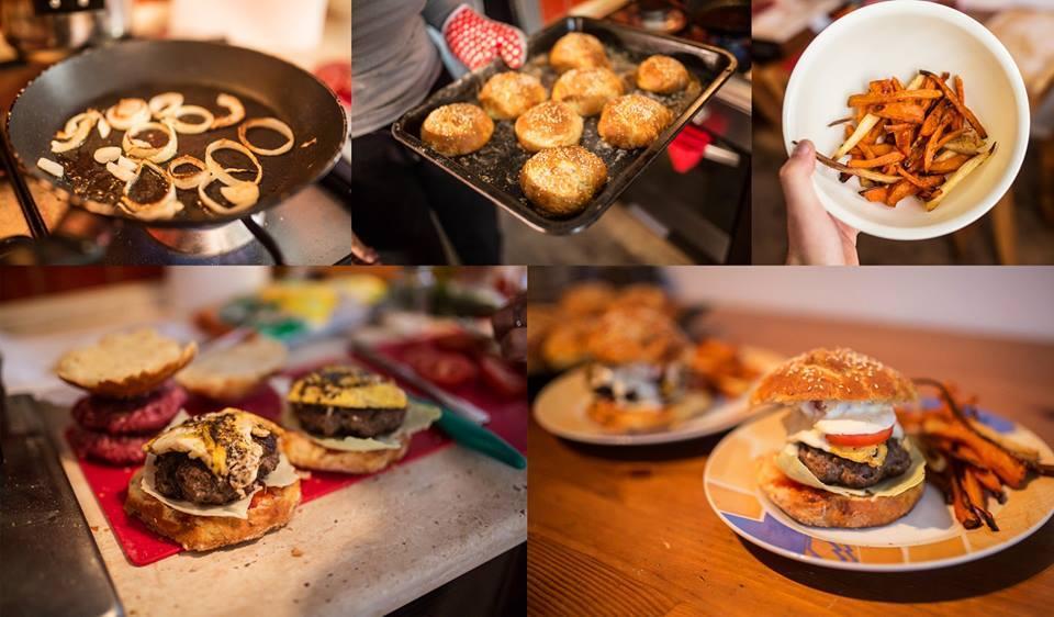 Recept Dobré domácí housky - Domácí housky jsem použila k vytvoření domácího hamburgeru a byly k němu výtečné. Děkuji