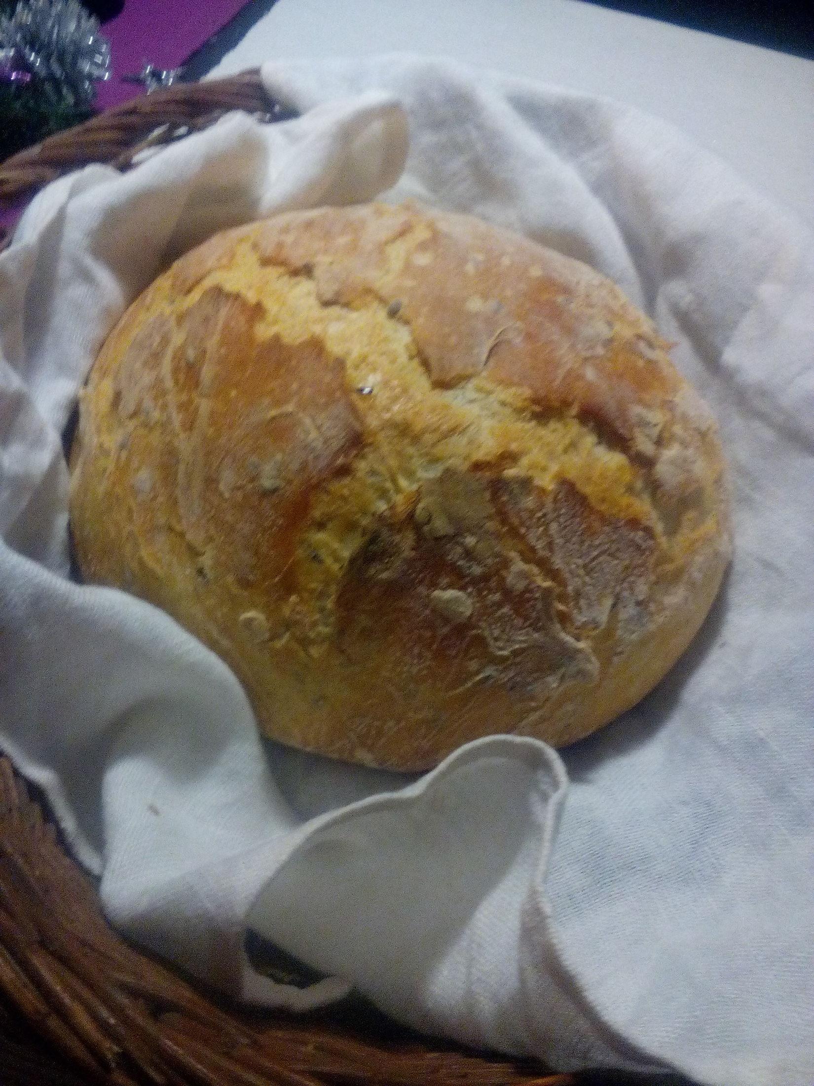 Recept Domácí chleba bez hnětení - novoroční domácí výrobek
