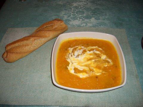 Dýňová polévka z Francie