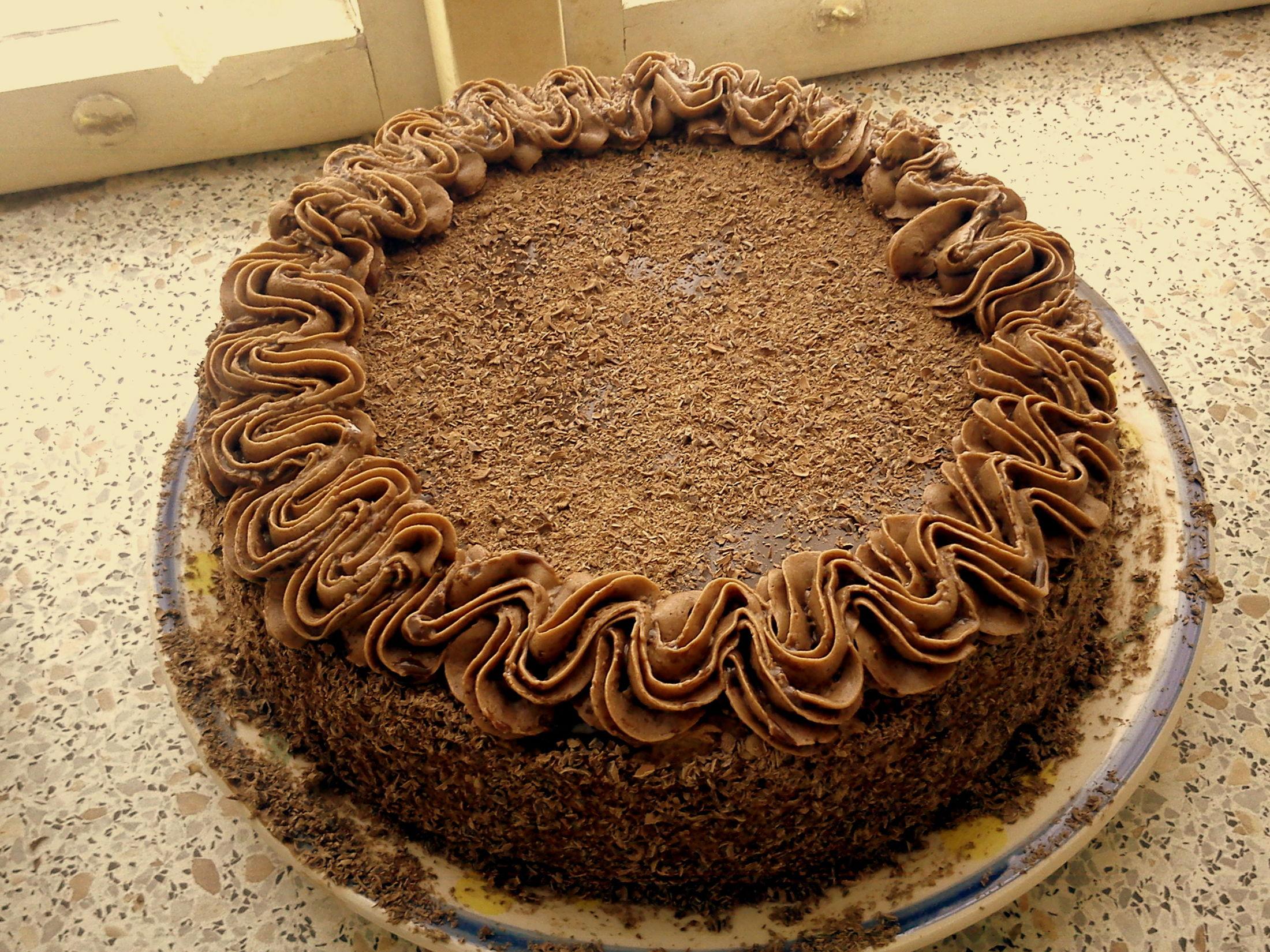 Recept Pařížské dortíčky - Dortíčky udělané jako velký dort :)
