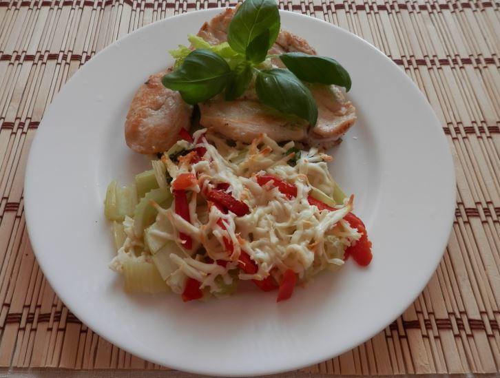 Fotografie receptu: Řapíkatý celer s parmazánem
